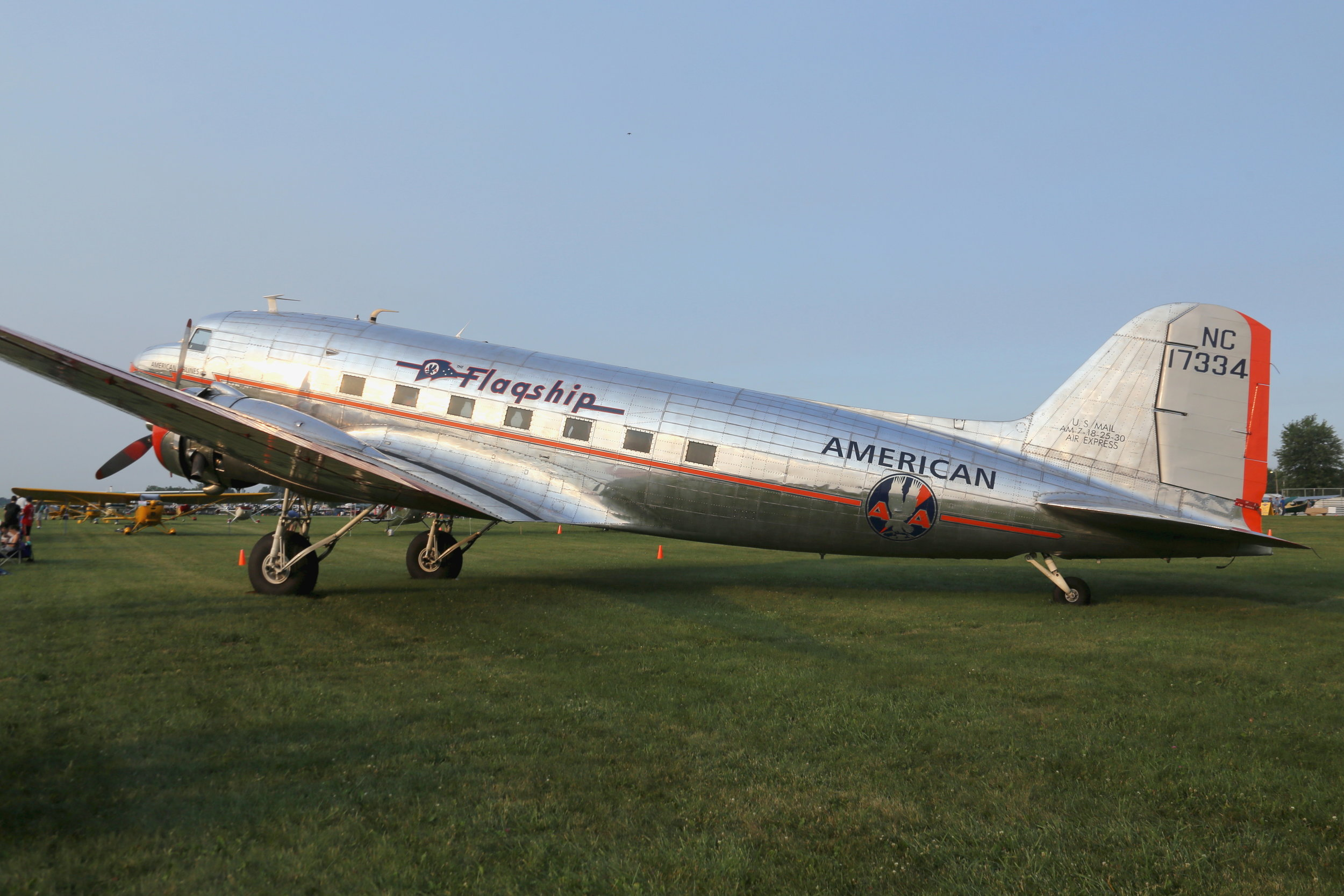 NC17334 American Airlines DC3 taken at Oshkosh 23rd July 2018 by John Wood