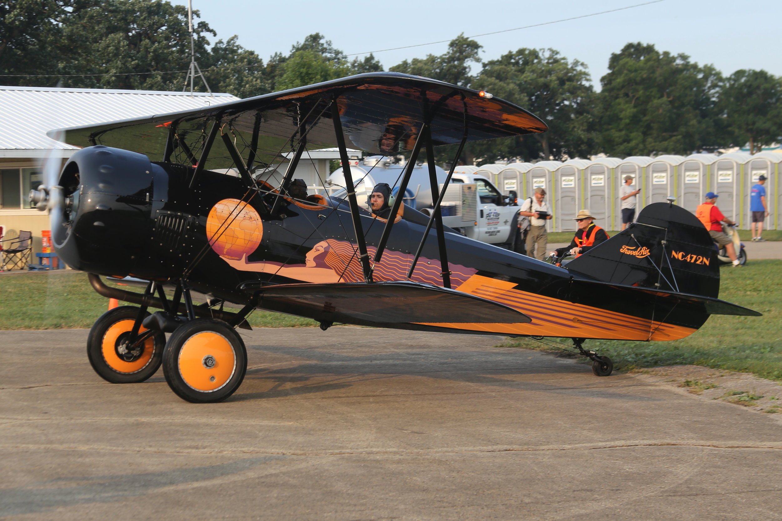 NC472N Travel Air D-4-D (manufactured in 1929) taken at Oshkosh 23rd July 2018 by John Wood