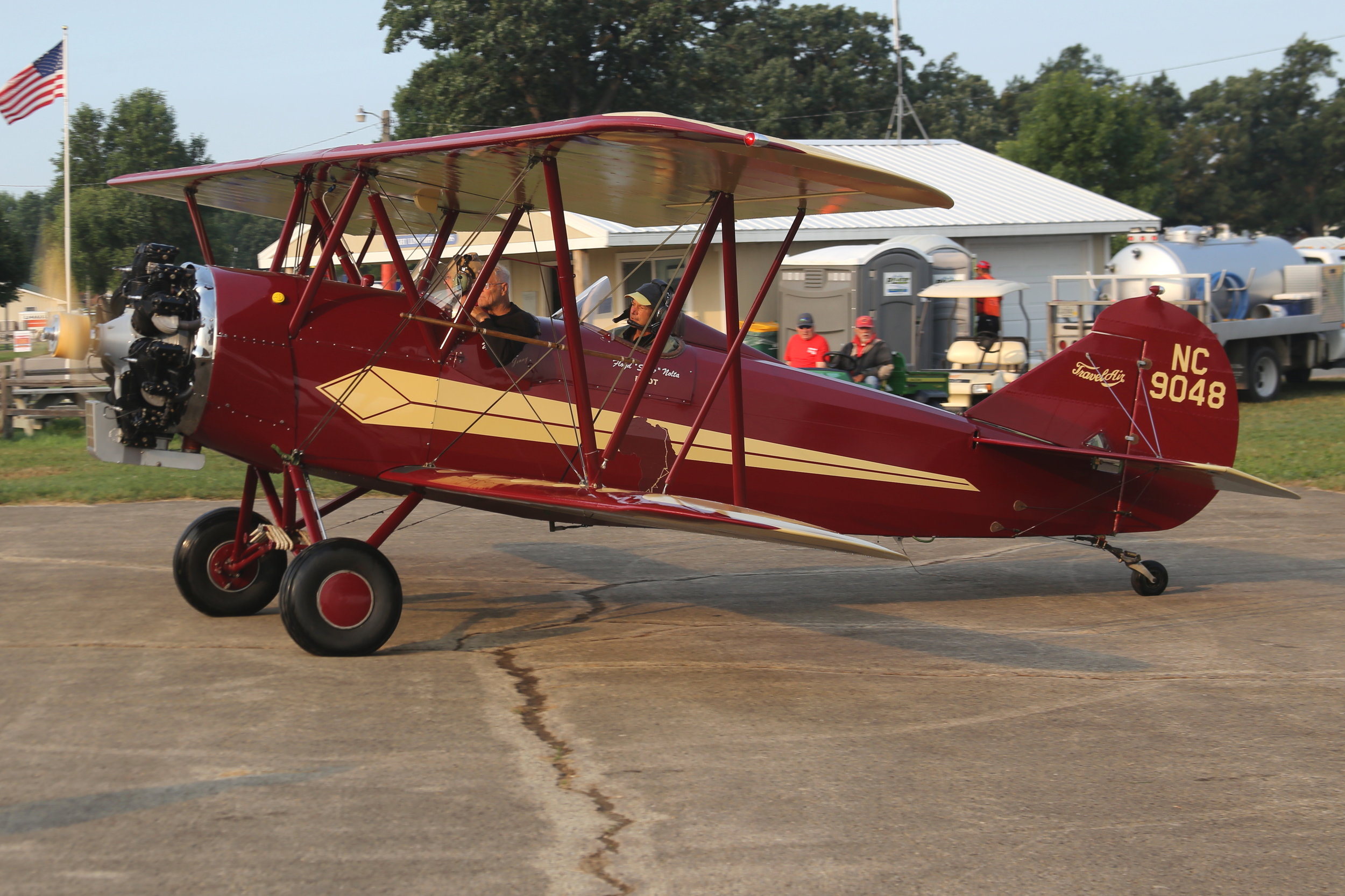 NC9048 Travel Air E-4000 (manufactured in 1928) taken at Oshkosh 23rd July 2018 by John Wood