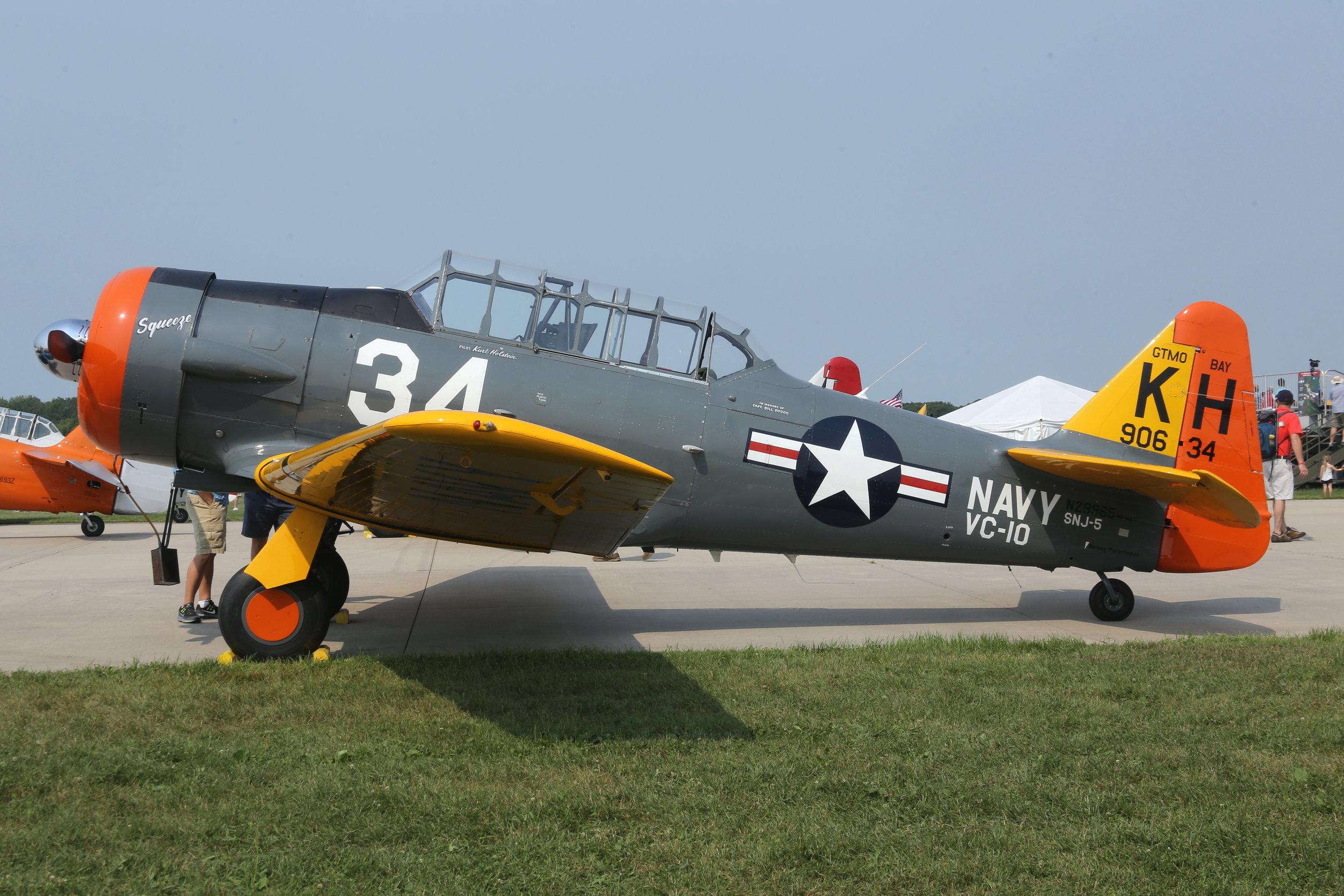 N29965 North American SNJ-5 Texan taken at Oshkosh 23rd July 208 by John Wood