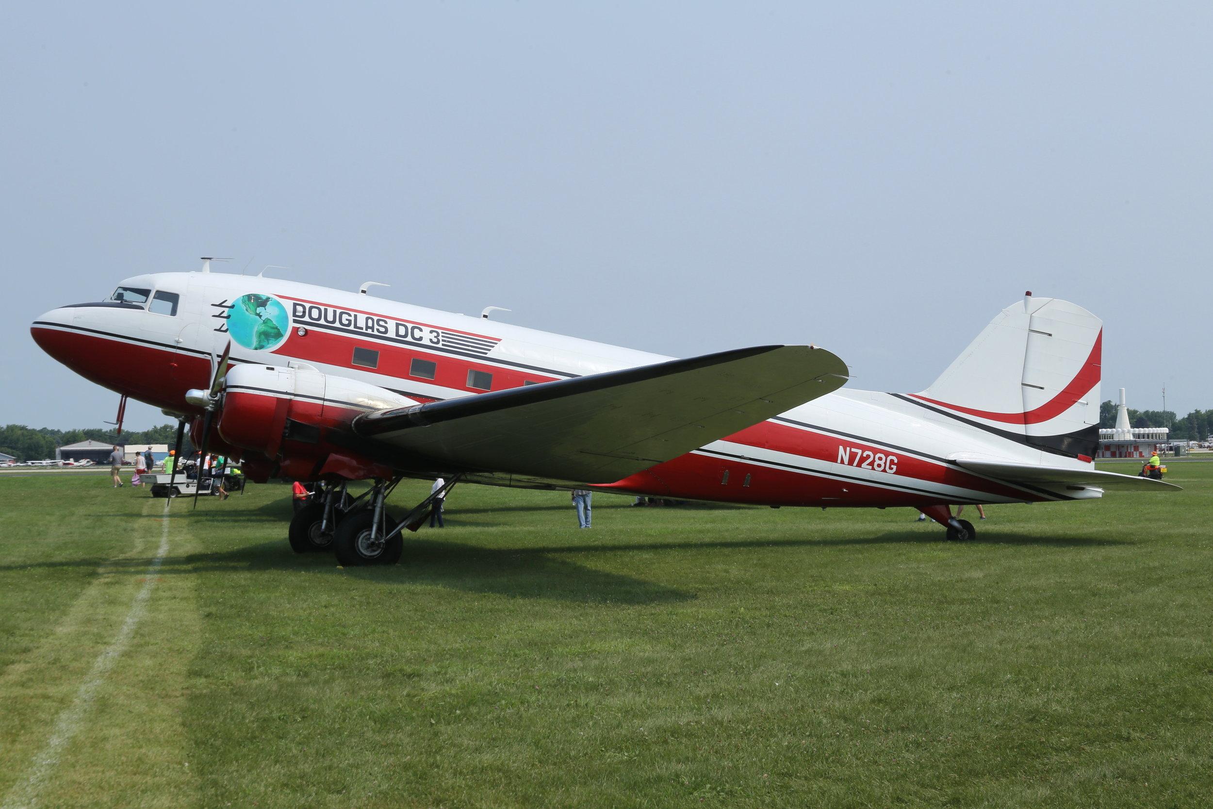 N728G DC-3(C) taken at Oshkosh 23rd July 2018 by John Wood