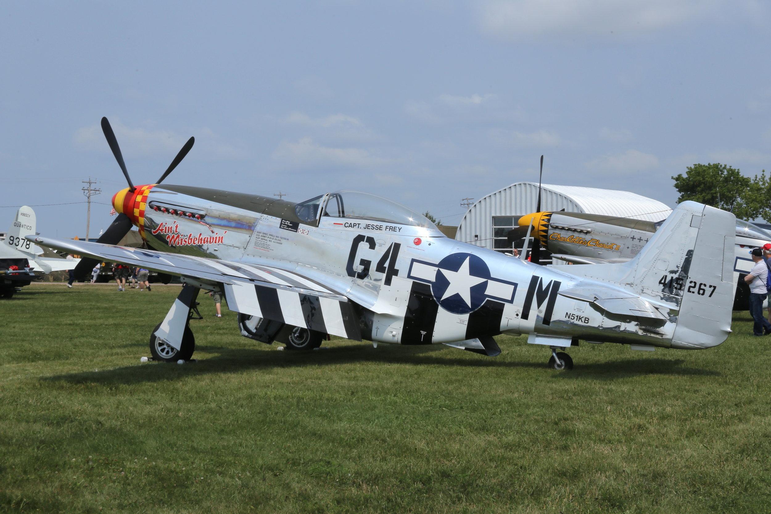 "N51KB ""Ain't Misbehavin"" North American P51 Mustang taken at Oshkosh 23rd July by John Wood"