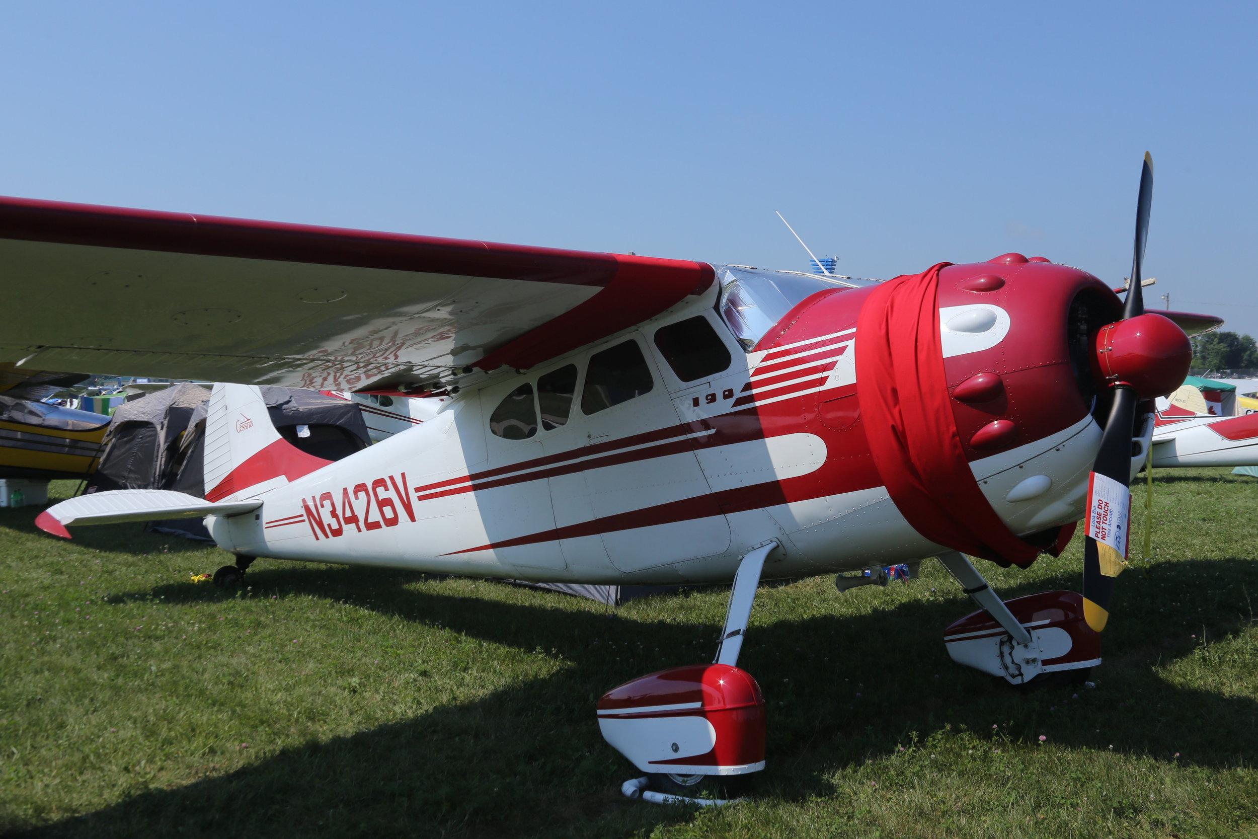 N3426V Cessna 190 taken at Oshkosh 24th July 2018 by John Wood