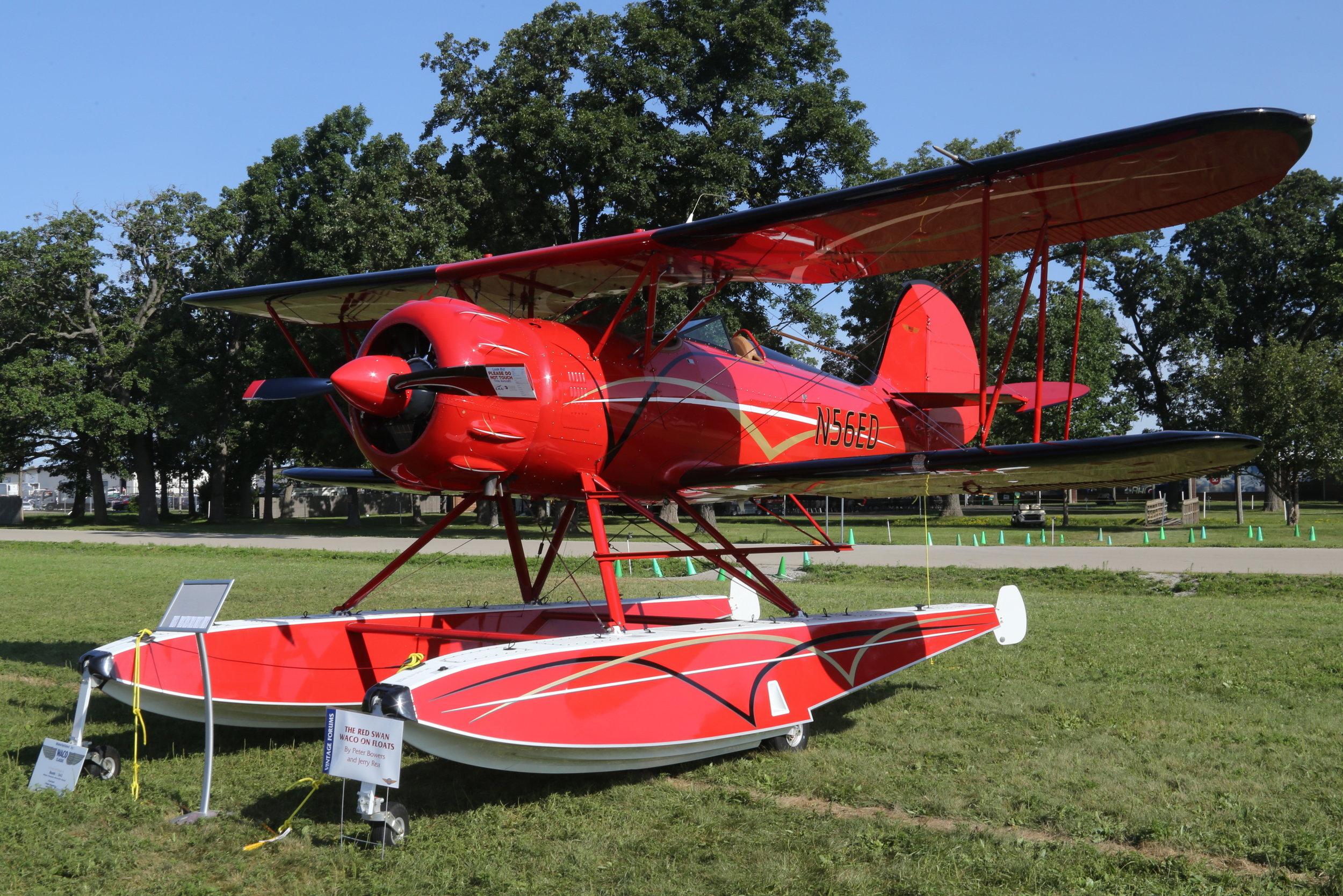 N56ED WACO Classic Air Company WACO-F taken at Oshkosh 25th July 2018 by John Wood