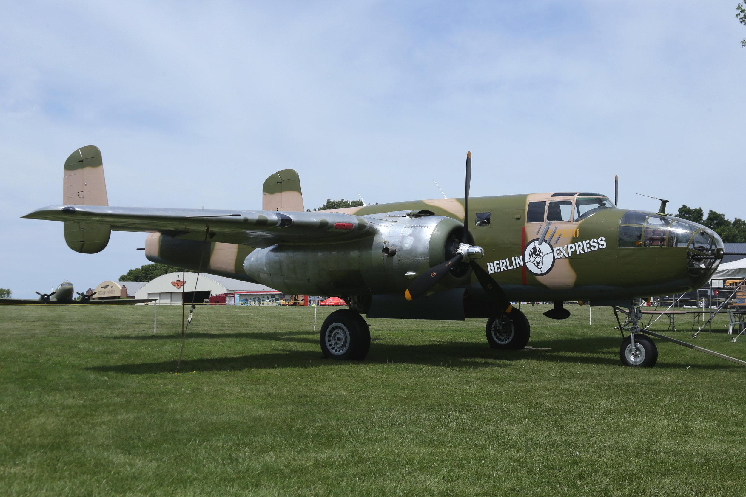 "N10V (43-4432) North American B-25H Mitchell ""Berlin Express"" taken at Pioneer Airport Oshkosh 25th July 2018 by John Wood"