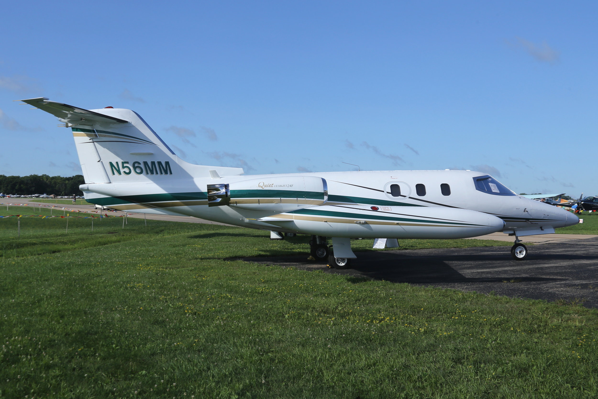 N56MM Northeast Aviation Learjet 24 taken at Whitman Regional Airport 26th July 2018 by John Wood