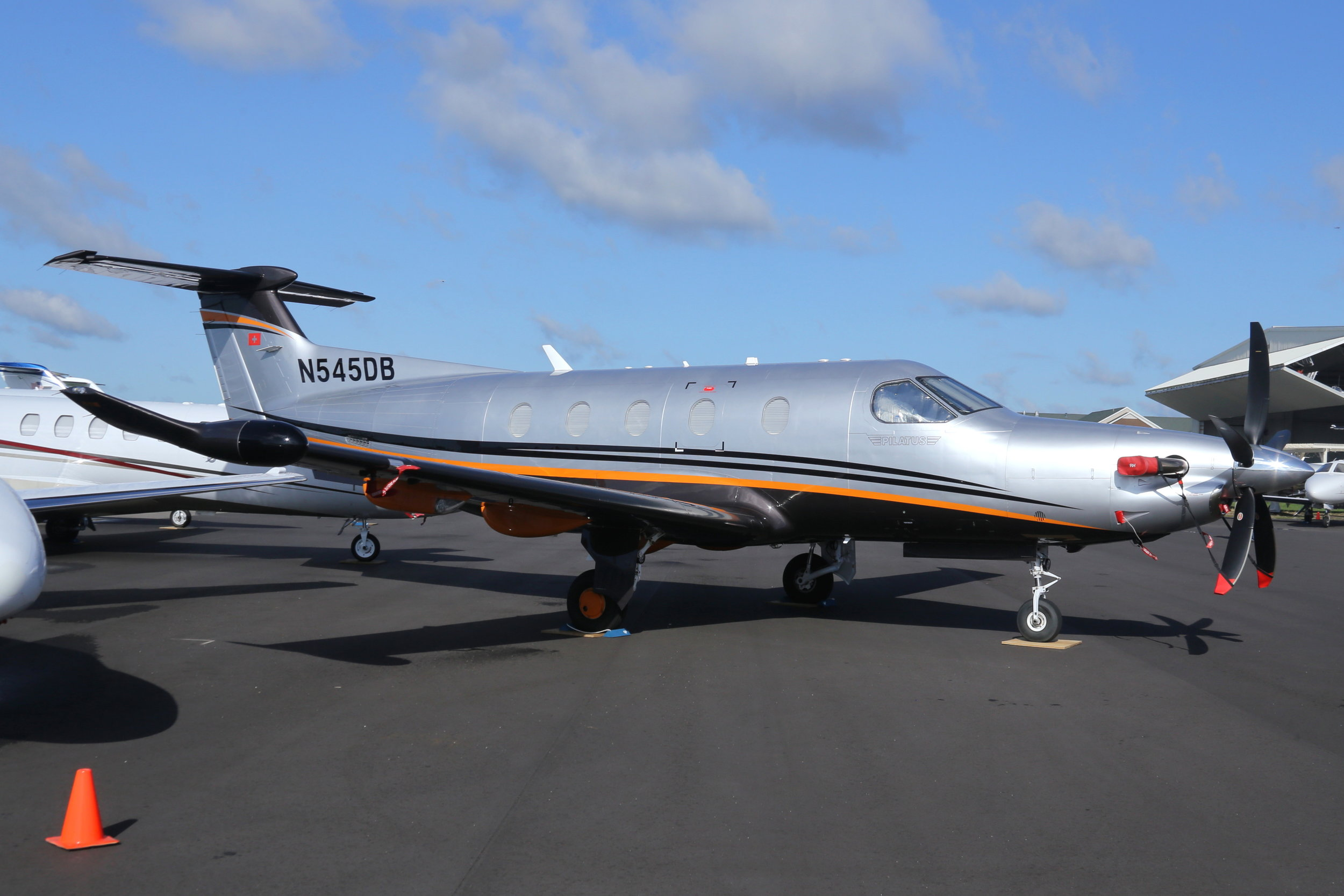 N545DB Pilatus Business Co. PC12 taken at Whitman Regional Airport 26th July 2018 by John Wood