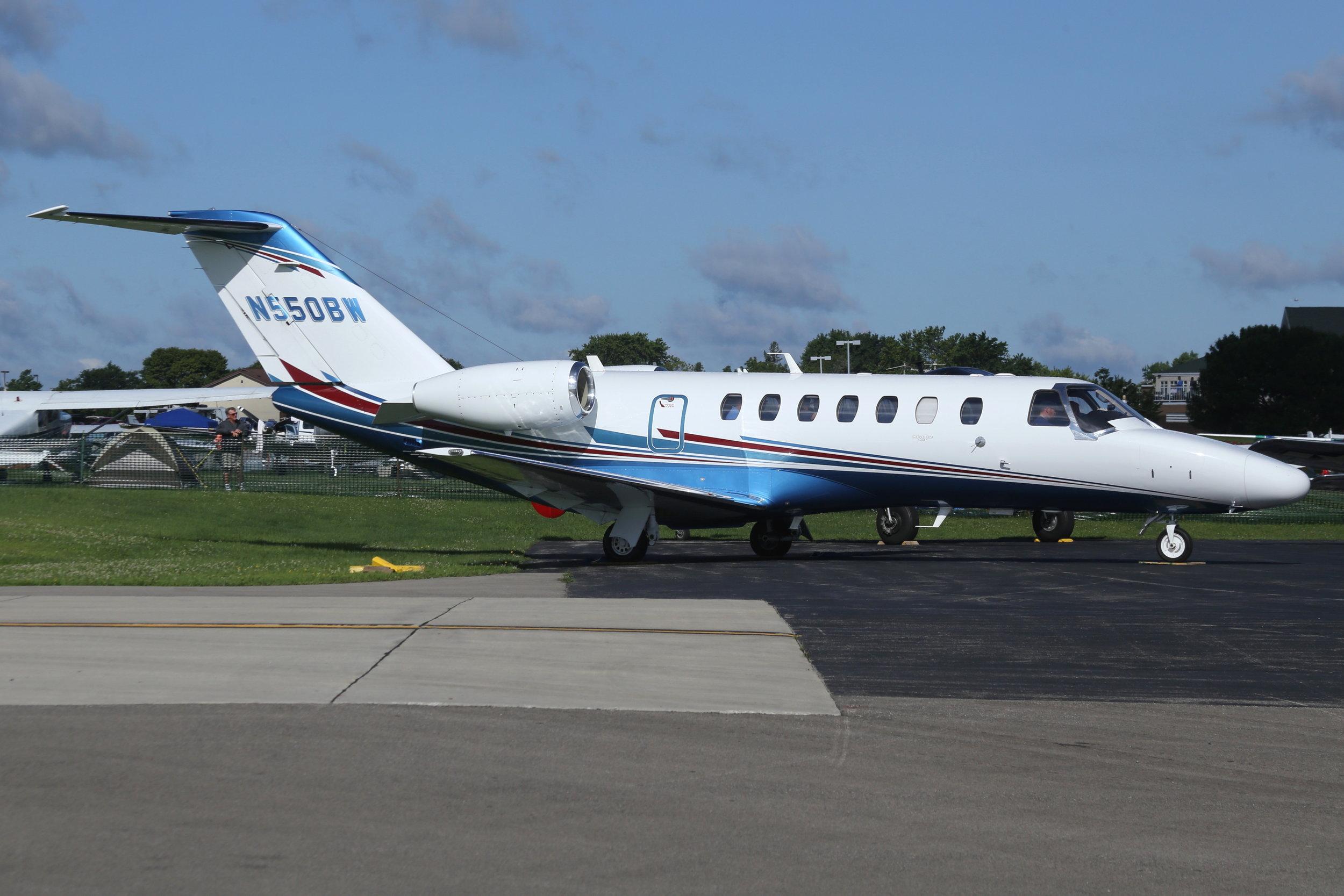 N550BW RAW Leasing Co. Cessna 525B taken at Whitman Regional Airport 26th July 208 by John Wood