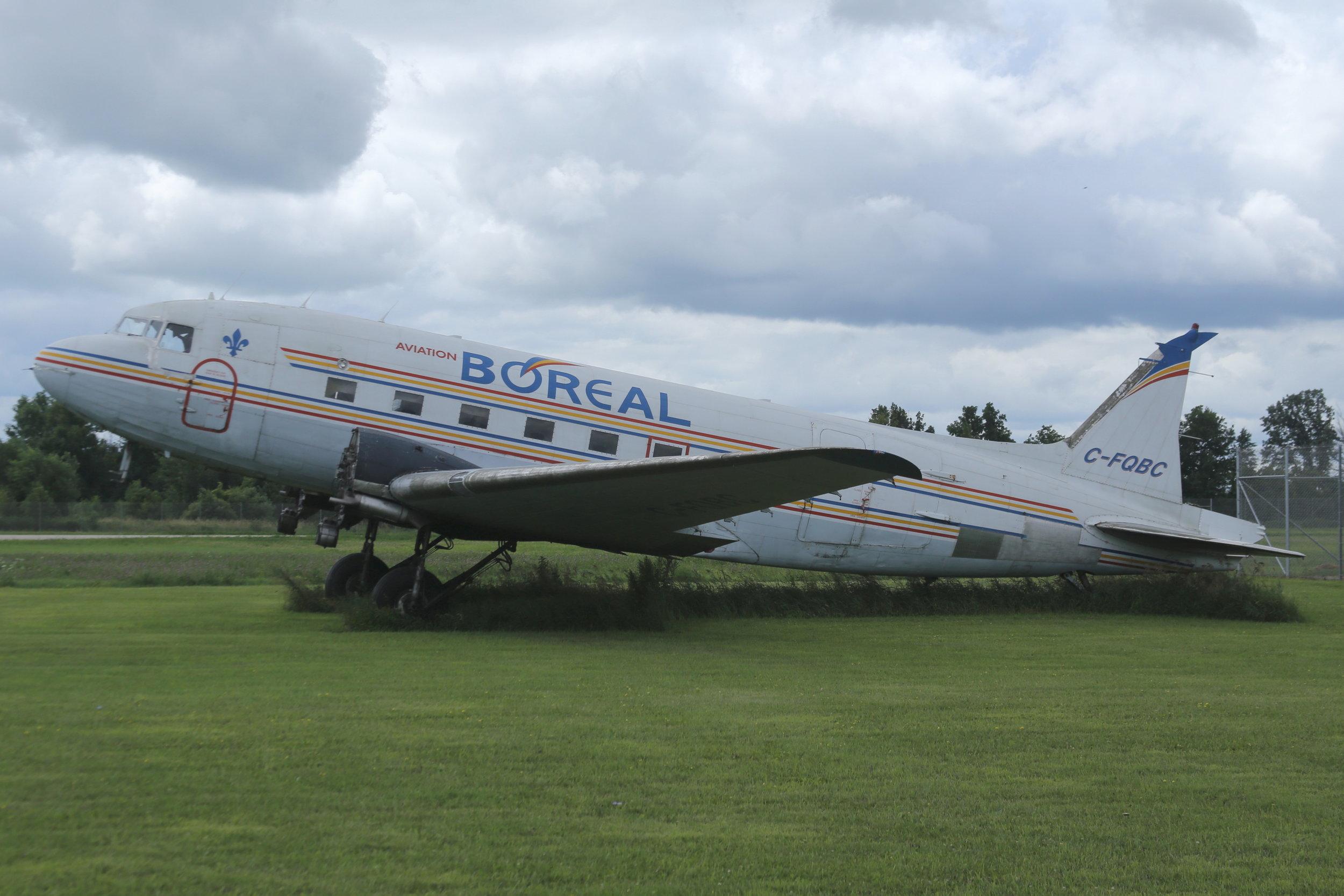 C-FQBC Ex Buffalo Airways/BOREAL DC3 taken at Basler Turbo Conversions 26th July 2018 by John Wood