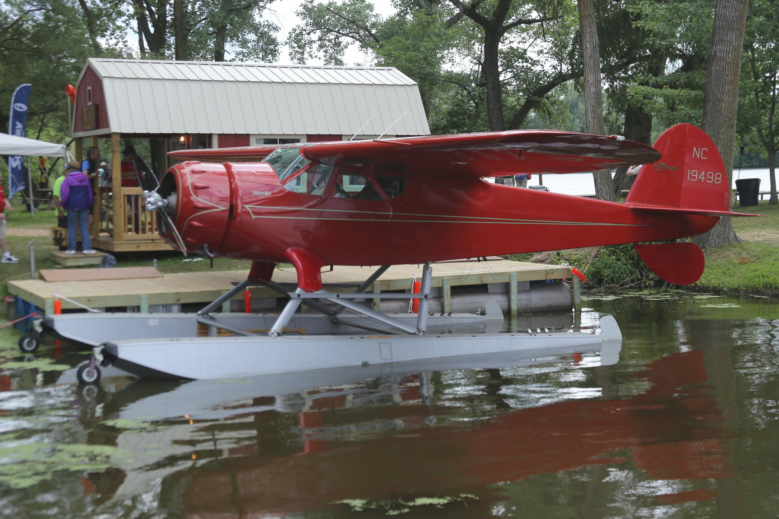 NC19498 Cessna165F taken at Lake Winnibago Oshkosh 26th July 2018 by John Wood