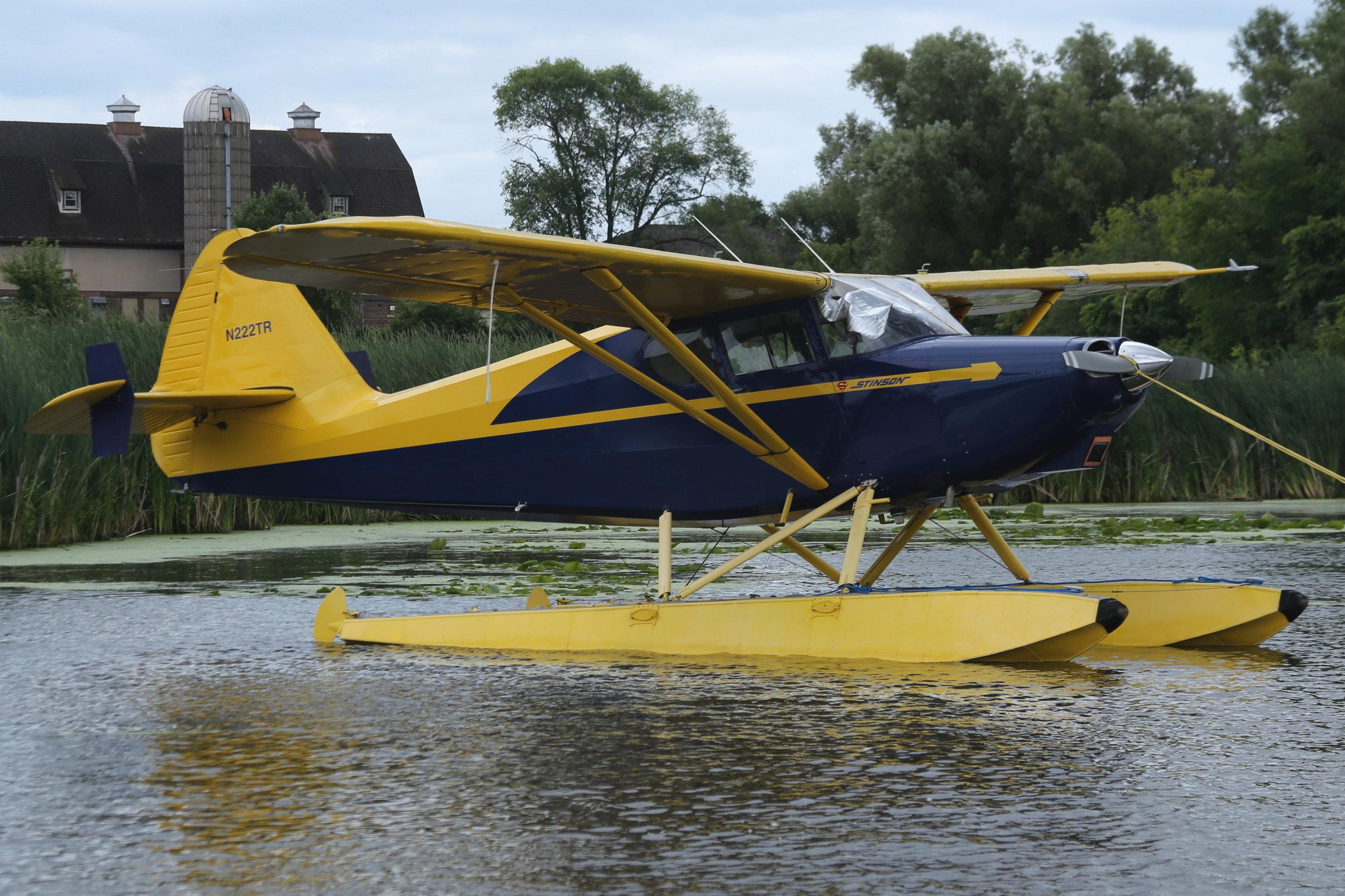 N222TR Stinson 108f taken at Lake Winnibago 26th July 2018 by John Wood