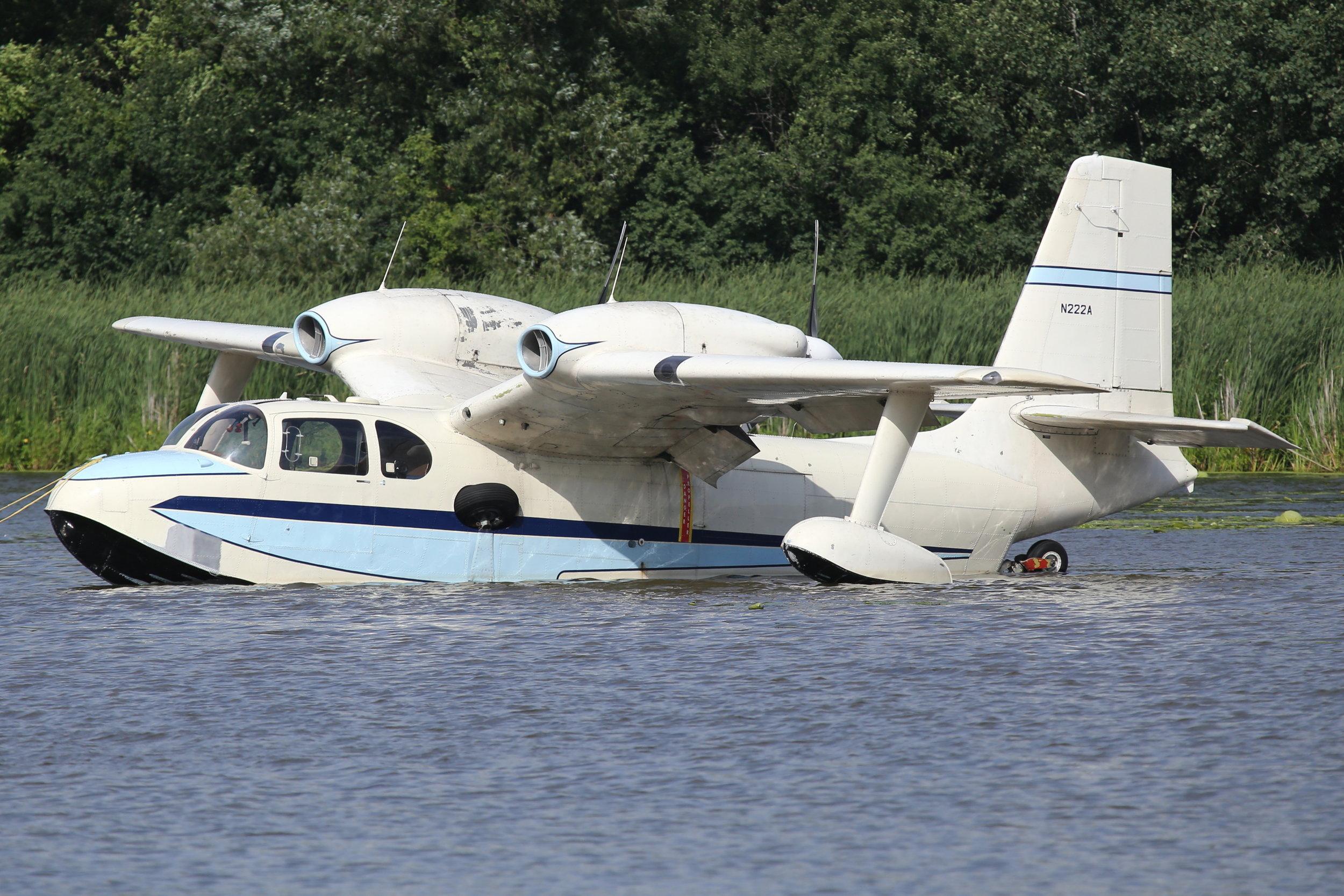 N222A Ocean Air Inc. Piaggio 136 taken at Lake Winnibago Oshkosh 26th July 2018 by John Wood