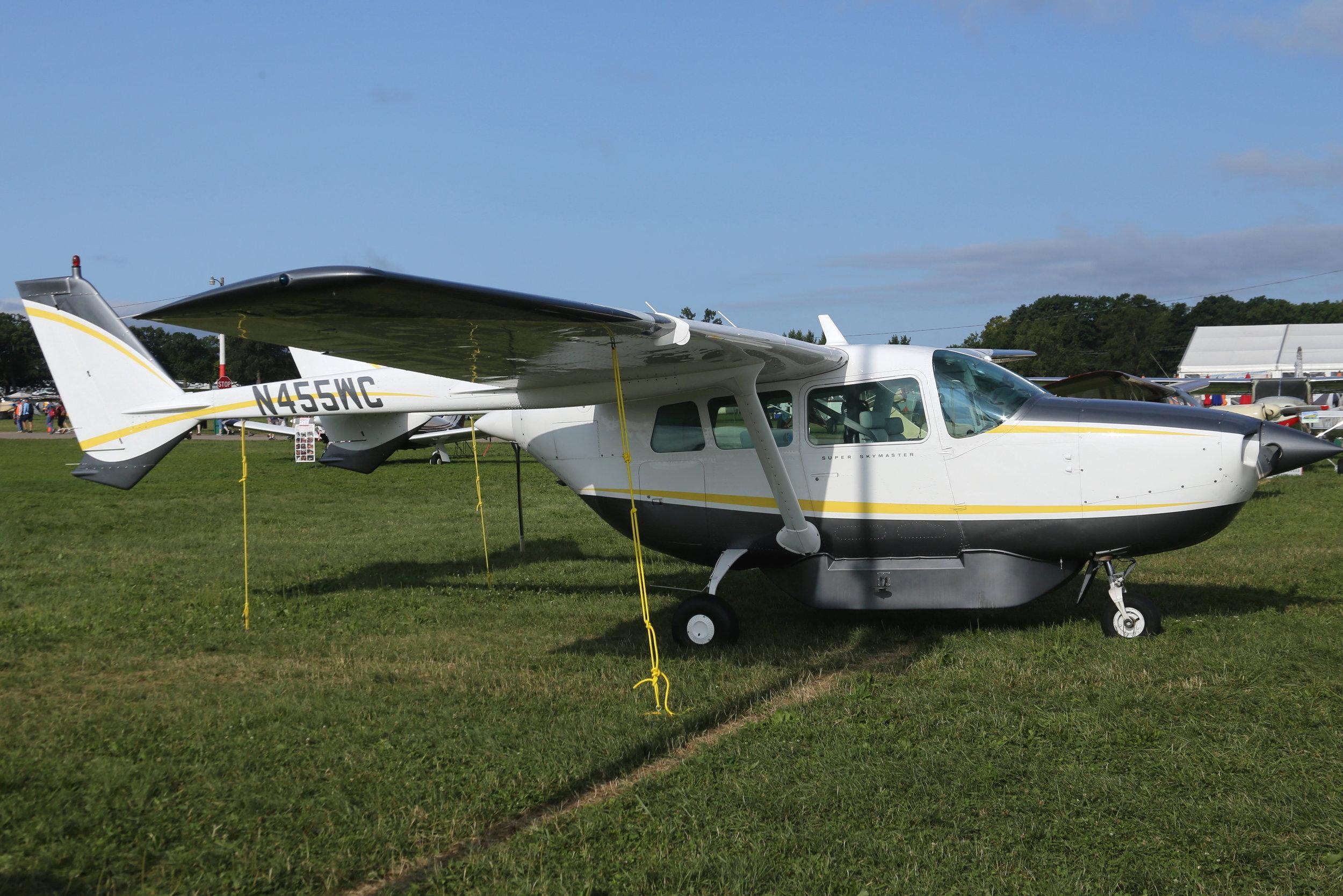 N455WC Cessna 337D taken at Oshkosh 27th July 2018 by John Wood