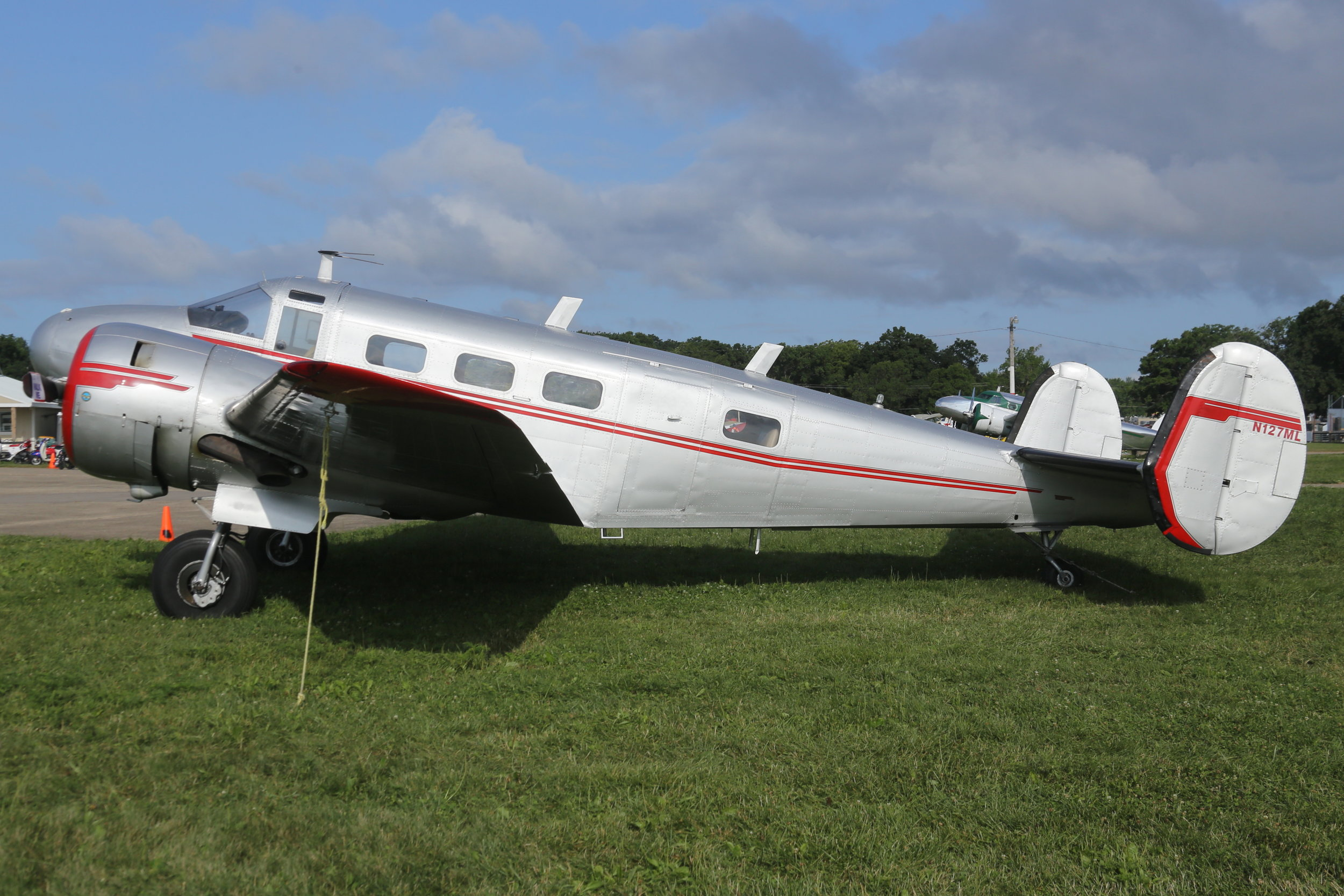 N127ML National Air Service Beech 18 taken at Oshkosh 27th July 2018 by John Wood