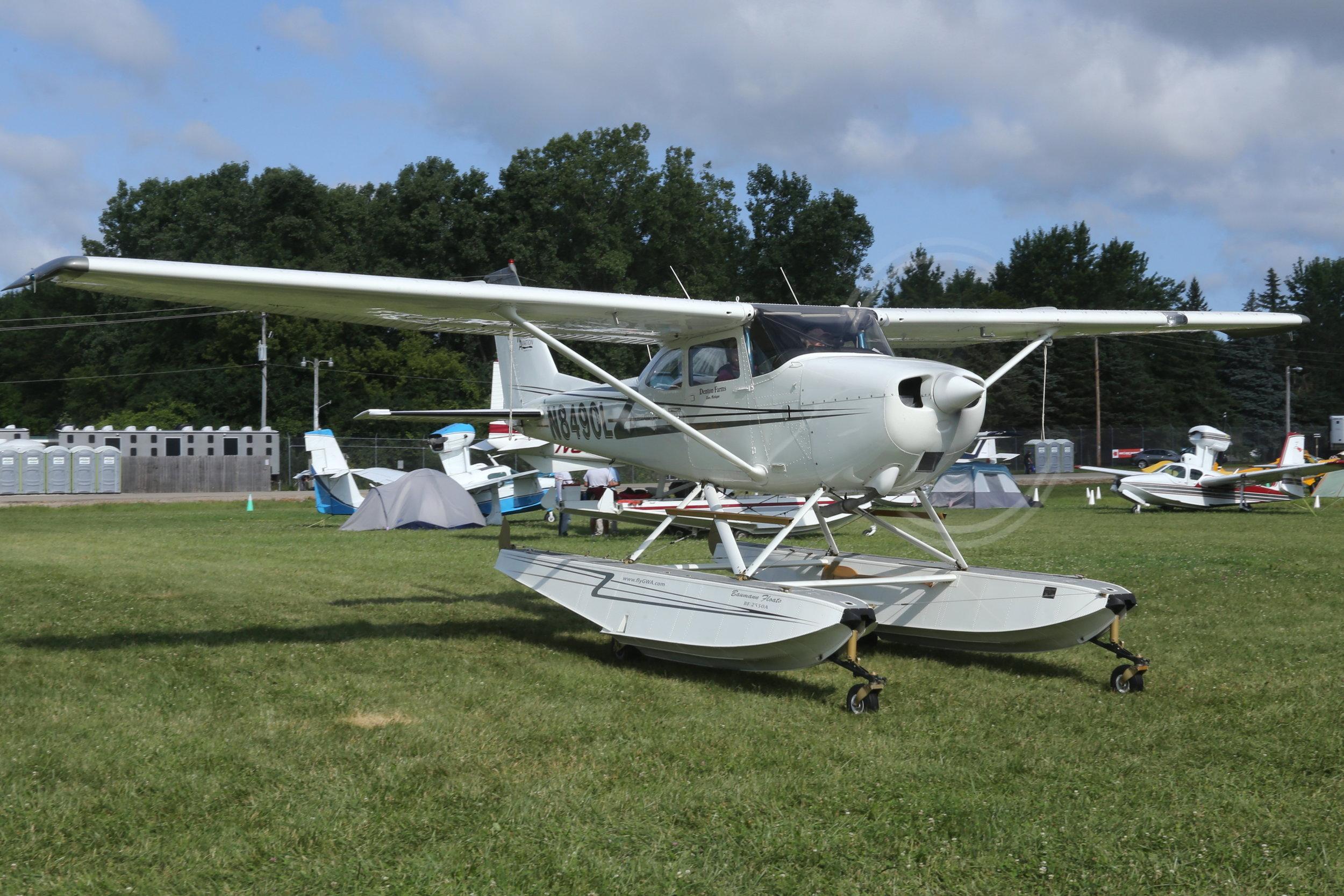 N8490L Denton Farms Cessna 172F taken at Oshkosh 27th July 2018 by John Wood
