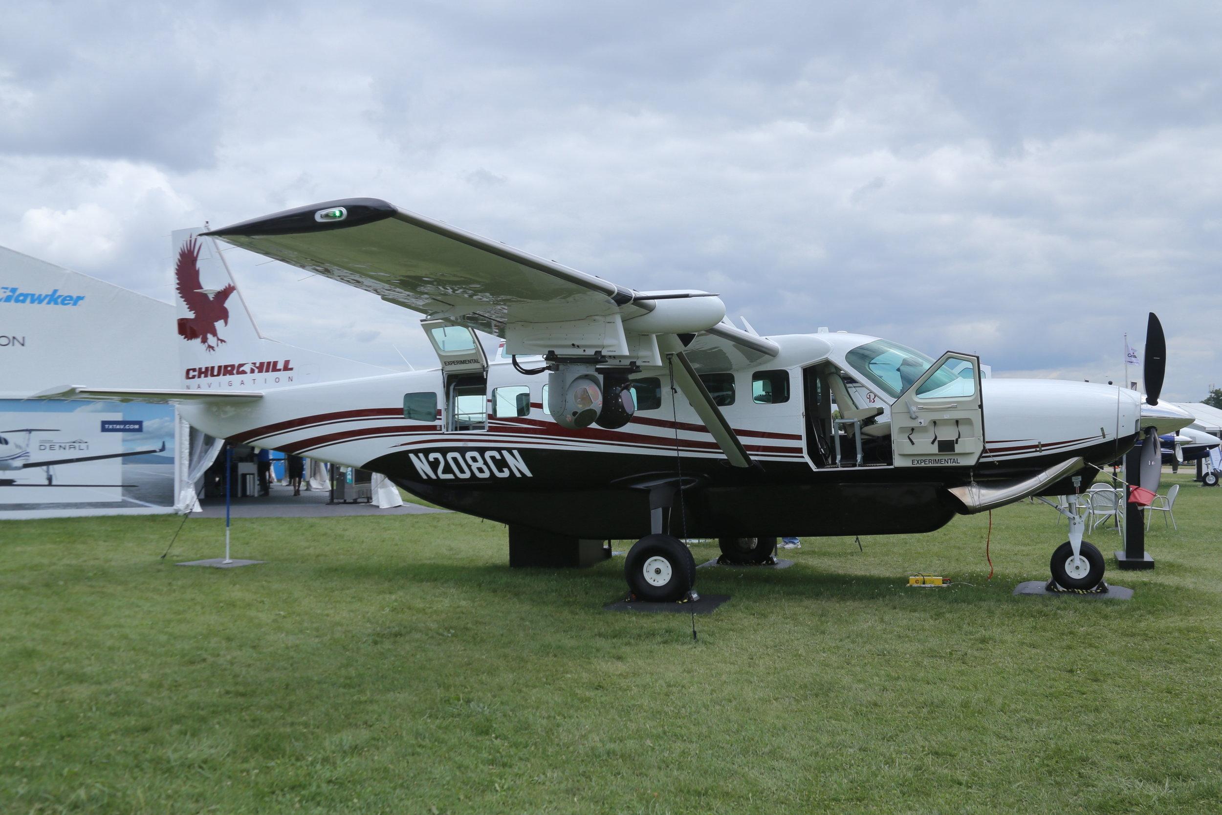 N208CN Churchill Navigation Cessna 208B taken at Oshkosh 27th July 2018 by John Wood