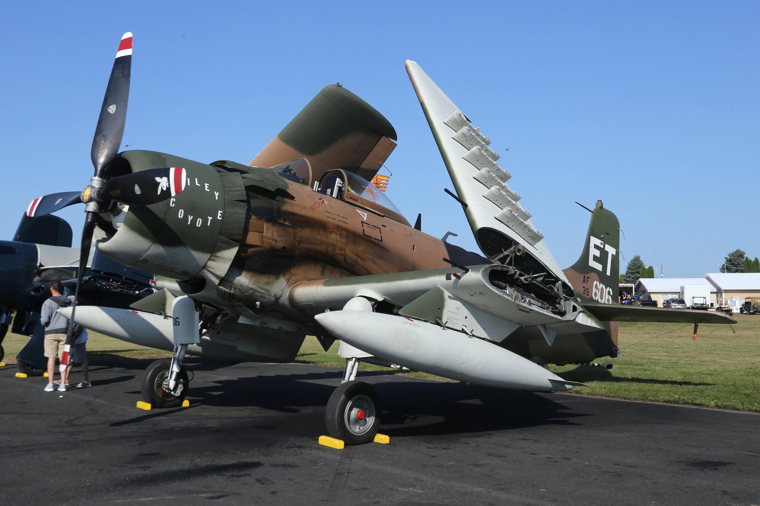 N39606 Douglas A1H Skyraider taken at Oshkosh 28th July 2018 by John Wood