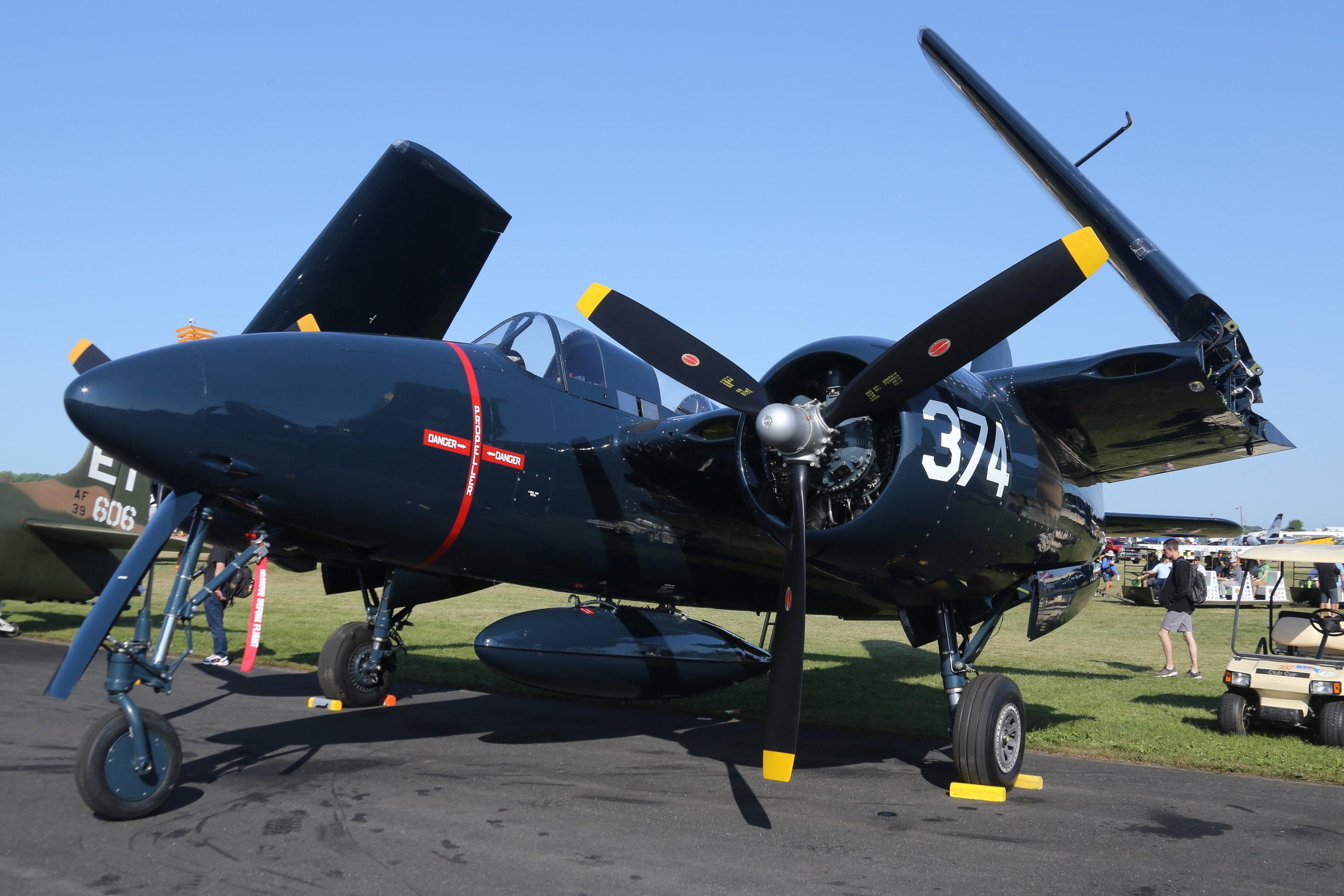 N2AD (374) Douglas Skyraider taken at Oshkosh 28th July 2018 by John Wood