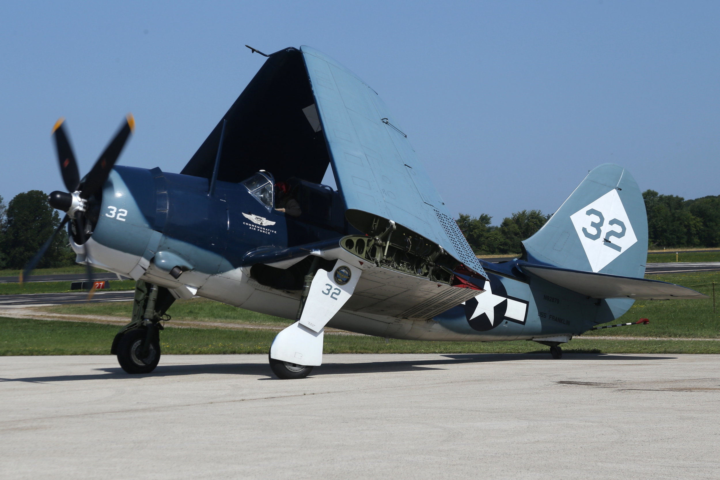 N92879 Commemorative Air Force Curtis Helldiver taken at Fond Du Lac 29th July 2018 by John Wood