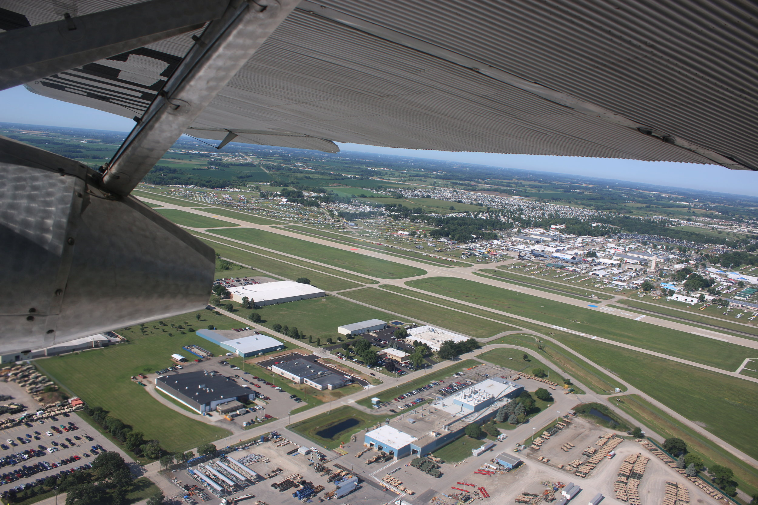 Oshkosh from the air taken 25th July 2018 by Alec Rankin
