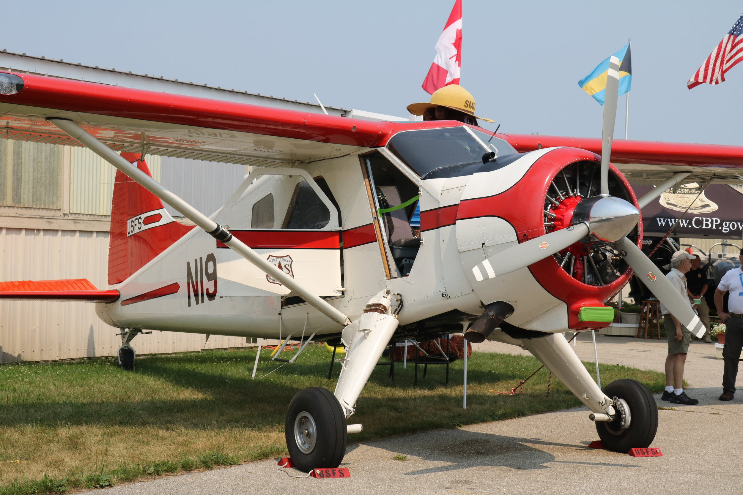 N191Z United States Forestry Service DHC-2 Beaver Mk1 taken at Osh kosh 24th July 2018 by Andrew Tenny