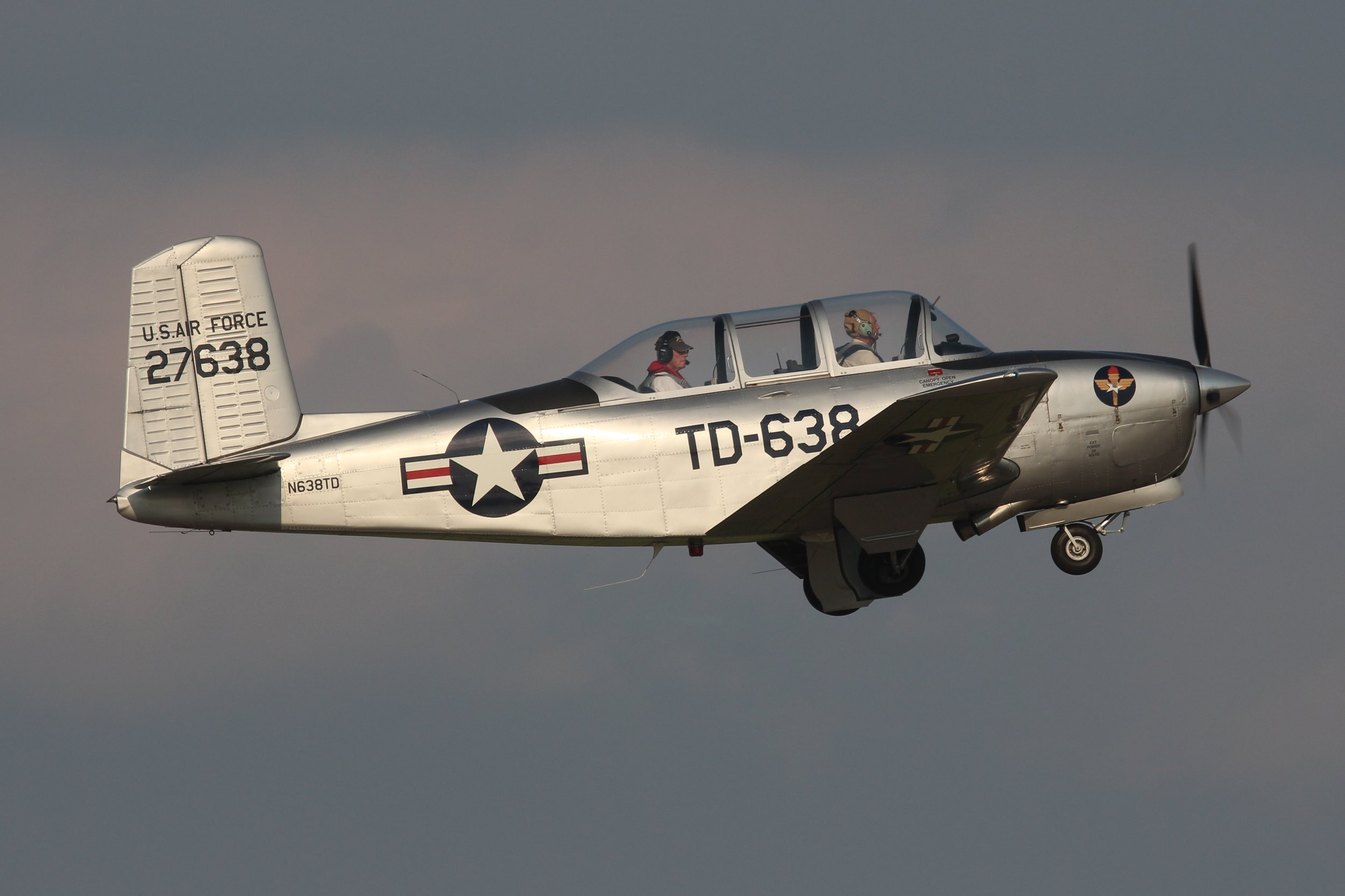 N638TD Beech T-34A Mentor (45) taxiing out for departure at Oshkosh 28th July 2018 by Andrew Tenny