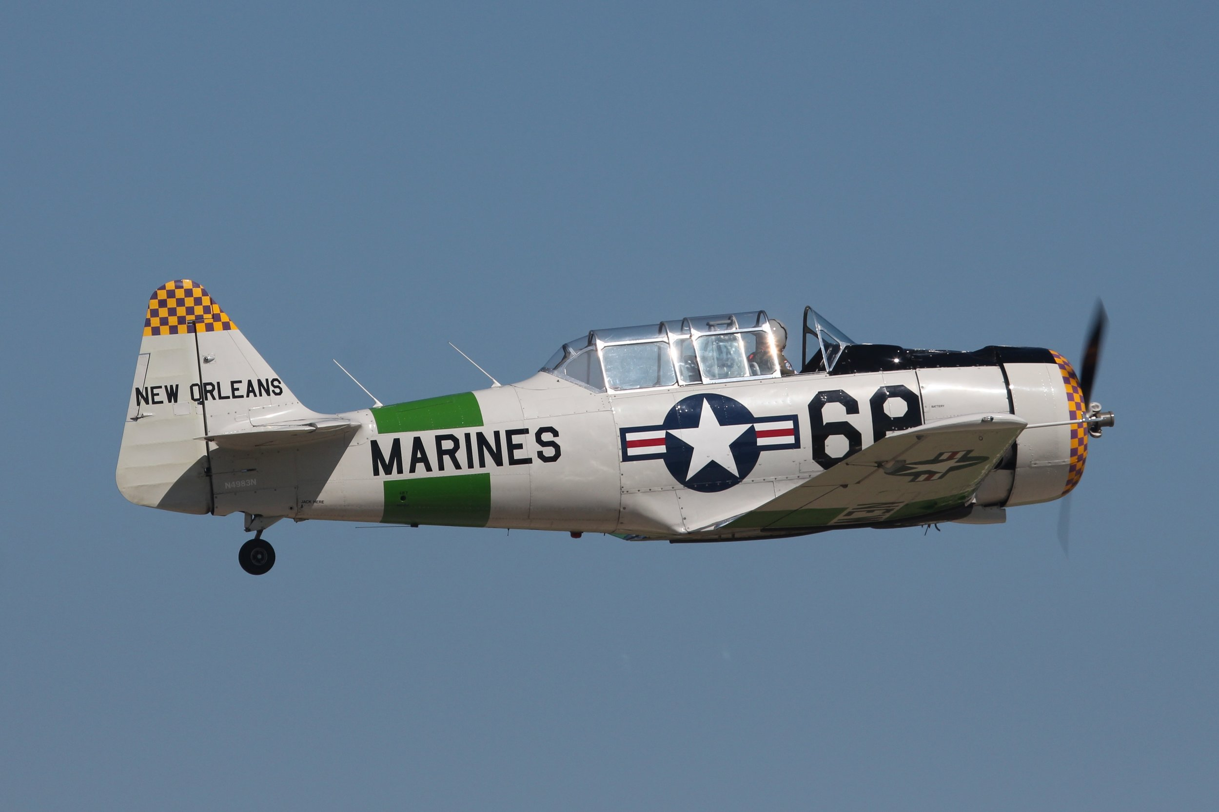 N4983N North American AT-6D displaying at Oshkosh 24th July 2018 by Andrew Tenny