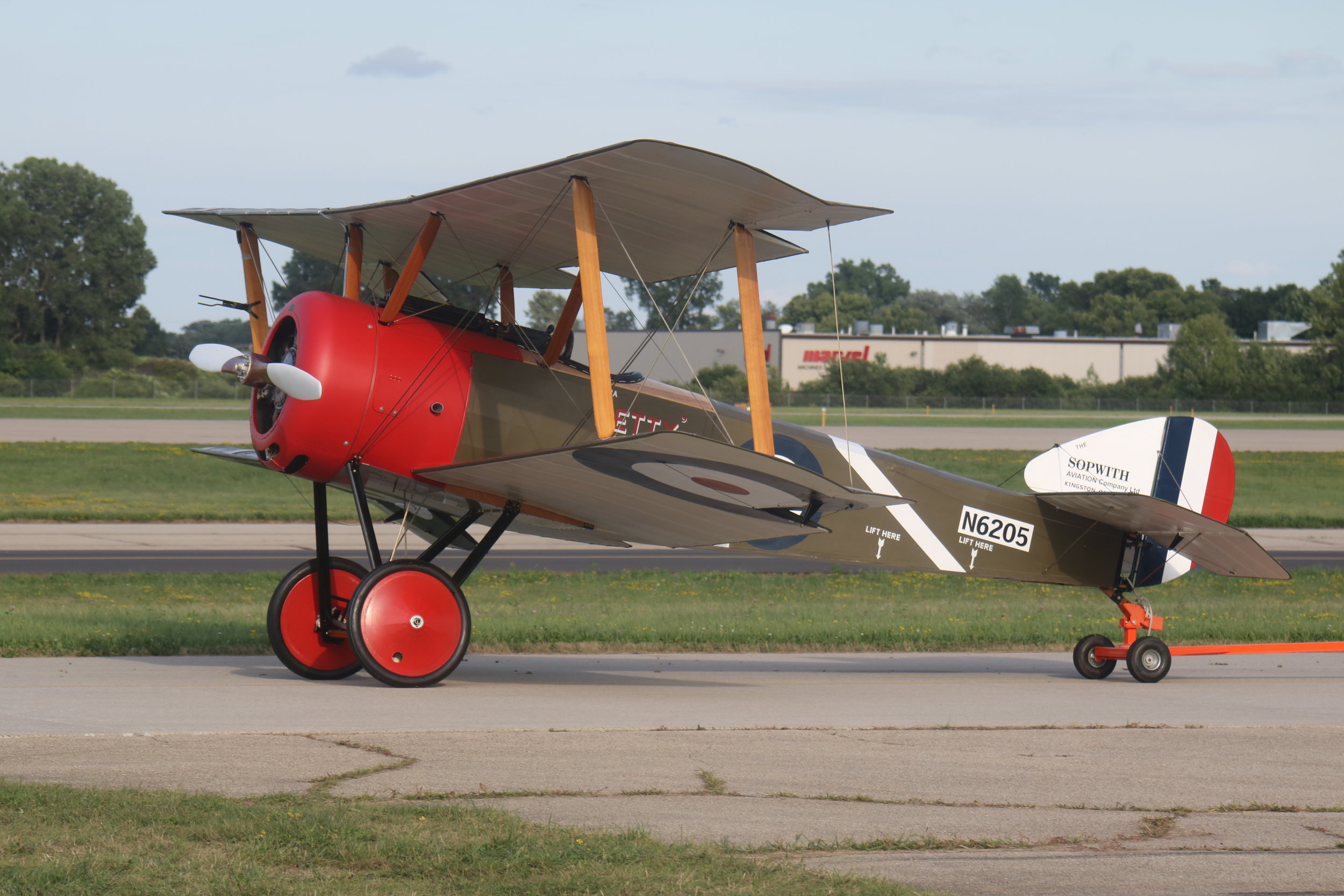 N6205 1916 Sopwith Pup (replica) taxiing at Oshkosh 25th July 2018 taken by Andrew Tenny