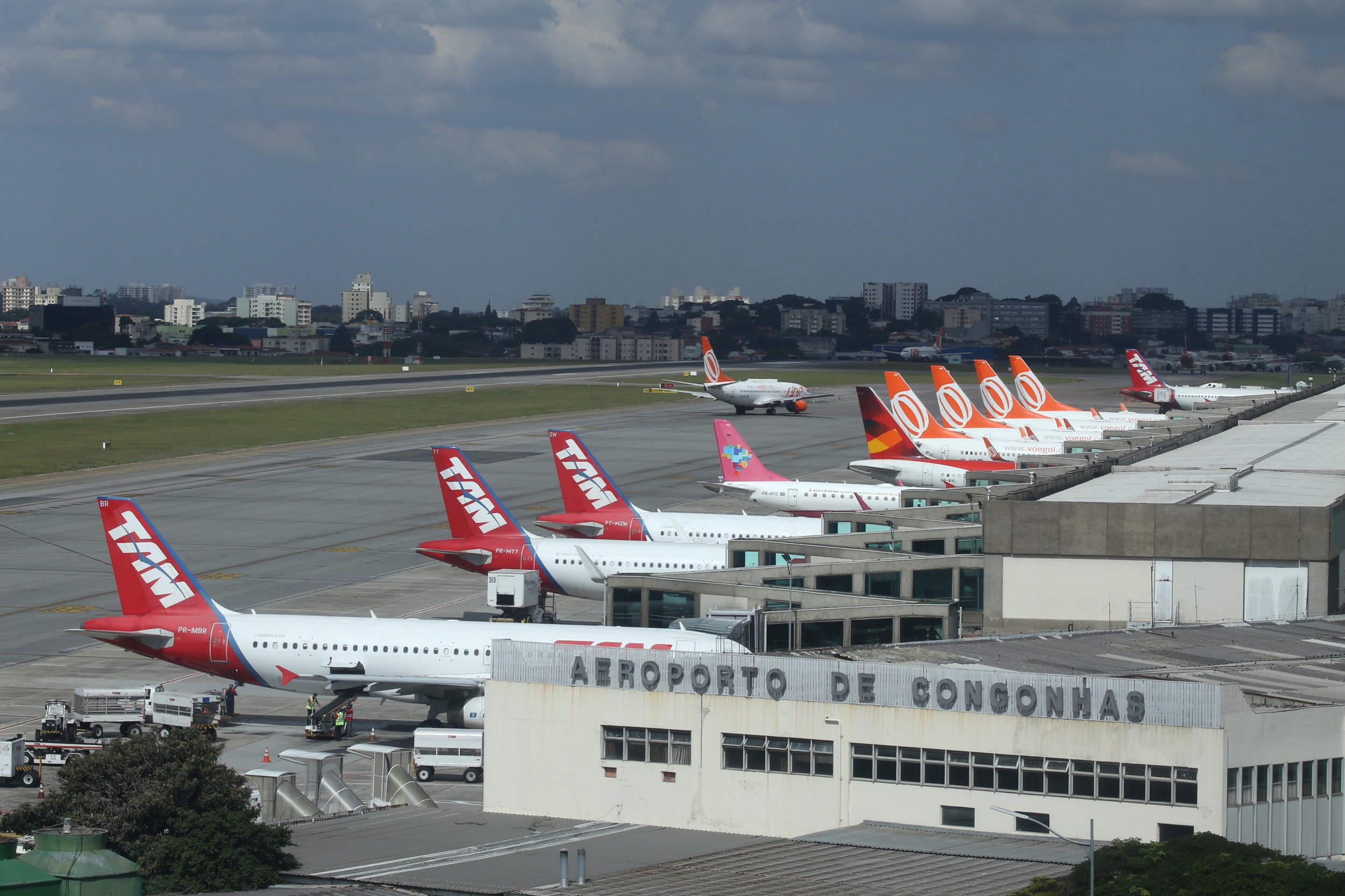View of the terminal taken from the Slaveiro Slim hotel at Sao Paulo Congonhas Airport 28th April 2019 by John Wood
