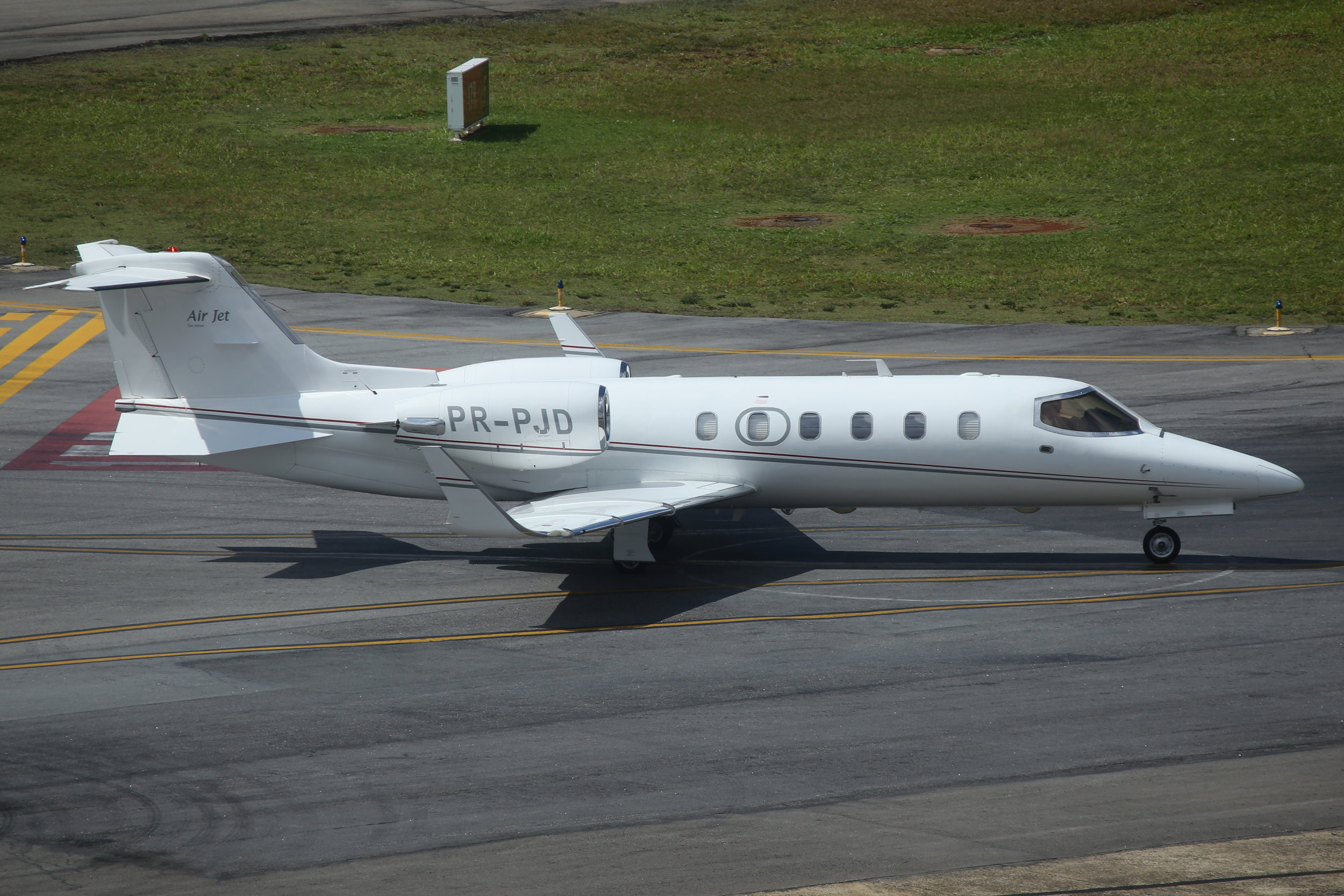 PR-PJD Learjet 31A taken from the Slaveiro Slim hotel at Sao Paulo Congonhas Airport 29th April 2019 by John Wood