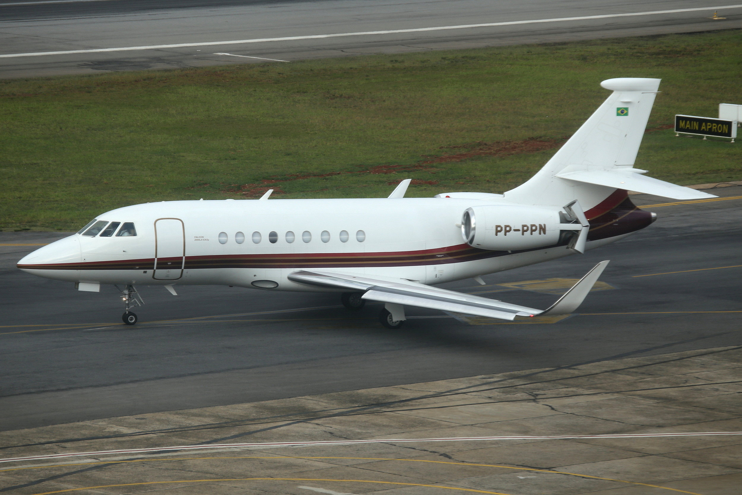PP-PPN Dassault Falcon 2000LX taken from the Slaveiro Slim hotel at Sao Paulo Congonhas Airport 29th April 2019 by John Wood