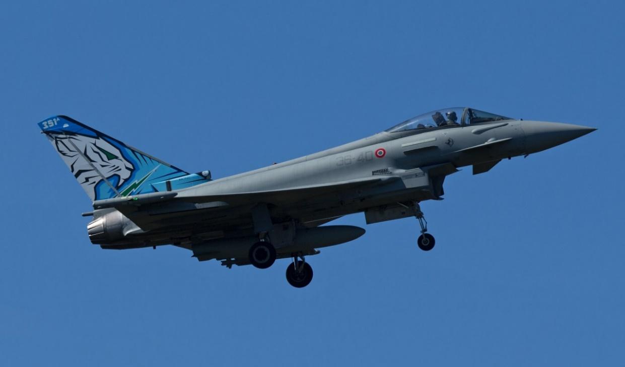 Photo: Italian Air Force 12th Gruppo Typhoon serial MM7322/ 36 40. Peter Hampson.