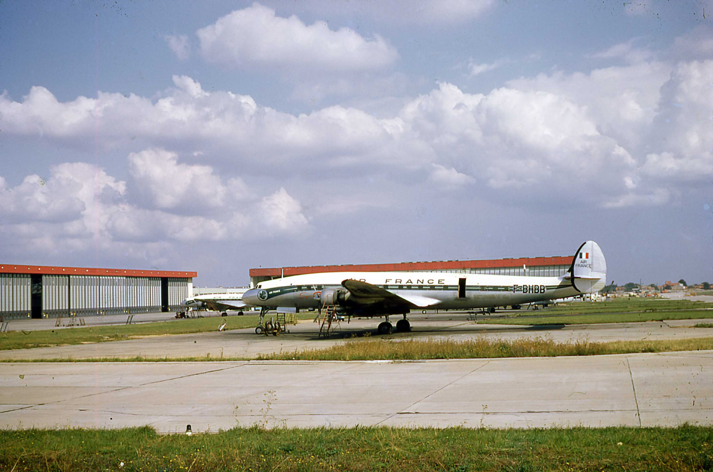 Air France Connie F-BHBB on the Air France maintenance area at Paris Orly in September 1968