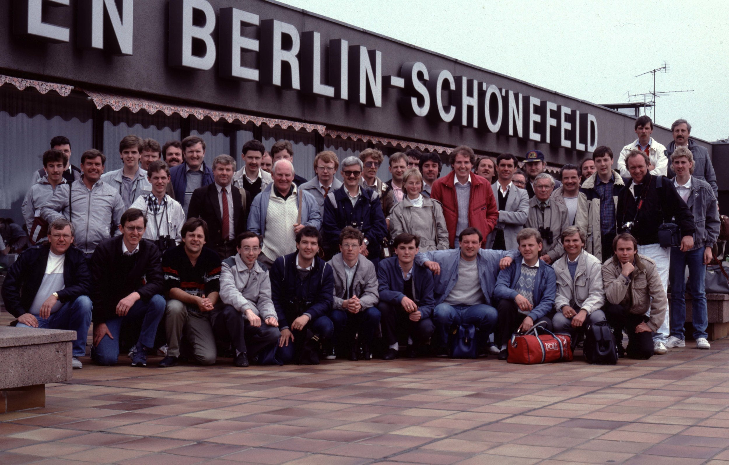 TAS Trip to Schonefeld (East Berlin as was) 1984 - a number of very familiar faces…Peter H in red jacket standing next to Paul West (Guy) and many who have taken to the sky and are now flying with the angels..Aaah such happy days…