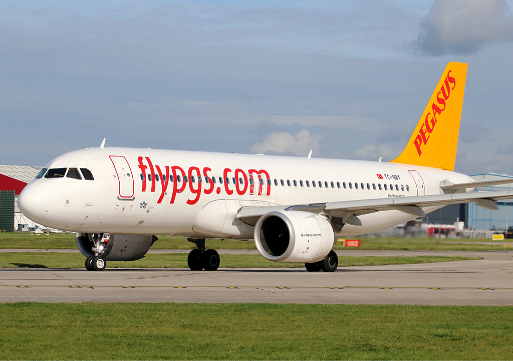 Pegasus A320N TC-NBY is seen lining up for departure to Istanbul Sabiha Gokcen on 2nd September.Photo: Paul Tomlin