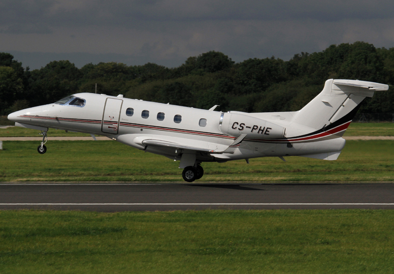 Embraer Phenom 300 CS-PHE from the Netjets stables rotates from Runway 23 Left on Sunday 8th September. Photo from Steve Seal.