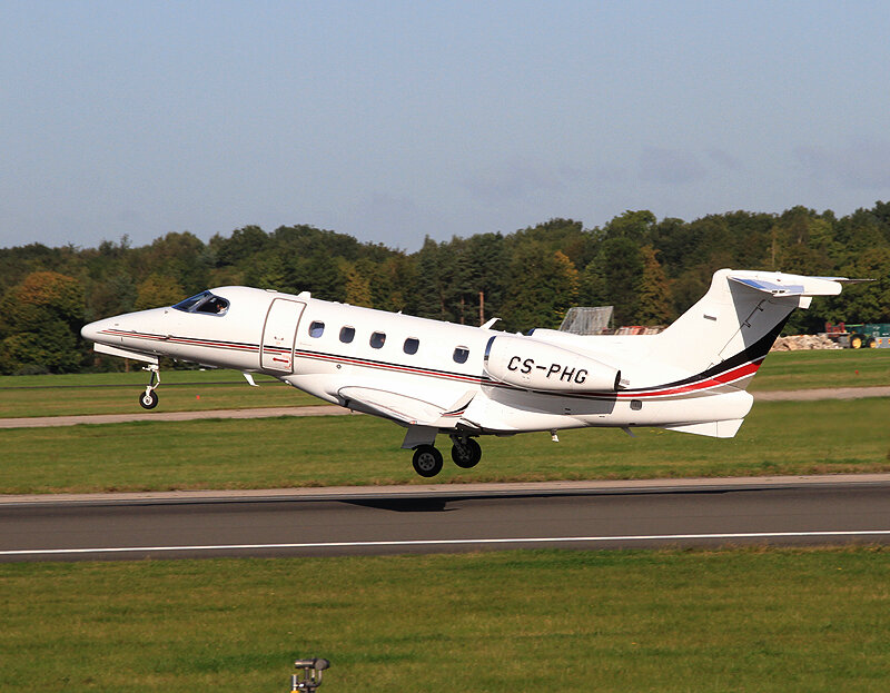 Many thanks to Steve Seal for sharing Embraer Phenom 300 CS-PHG departing from Runway 23 Left on 17th September