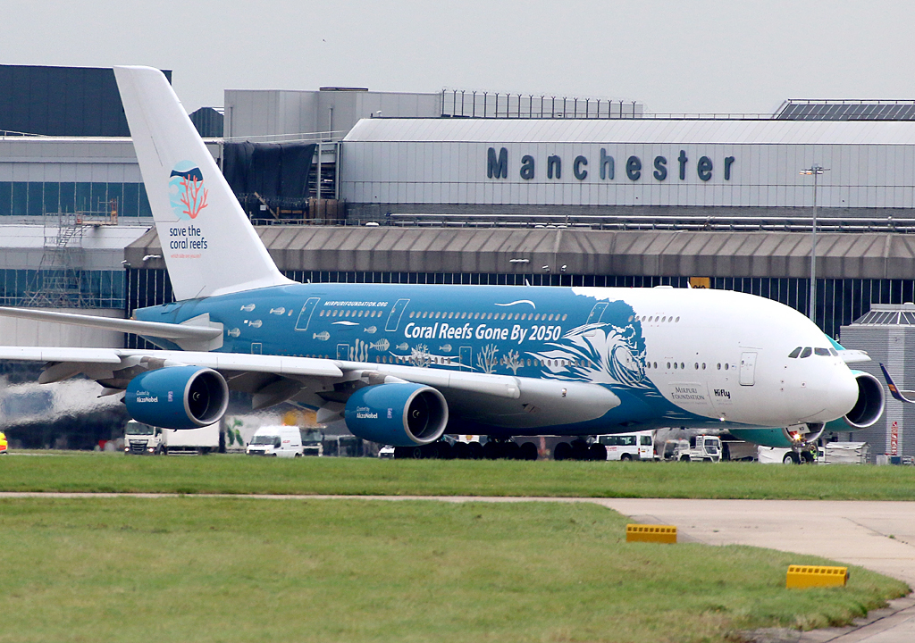 Thanks for saying hello! Hi Fly A380 9H-MIP was very nicely captured taxiing out for departure (back to base) on Monday 7th October. Photo: Paul Tomlin.