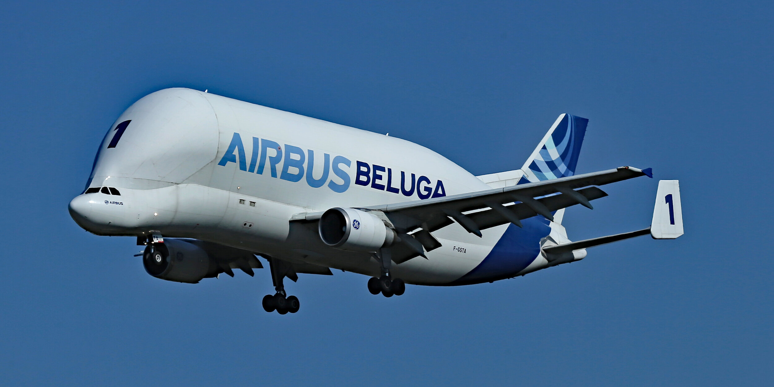 Come in Number 1…Beluga F-GSTA on finals to Runway 32 Left at Toulouse Blagnac on 18th September 2019. Photo: Peter Hampson.