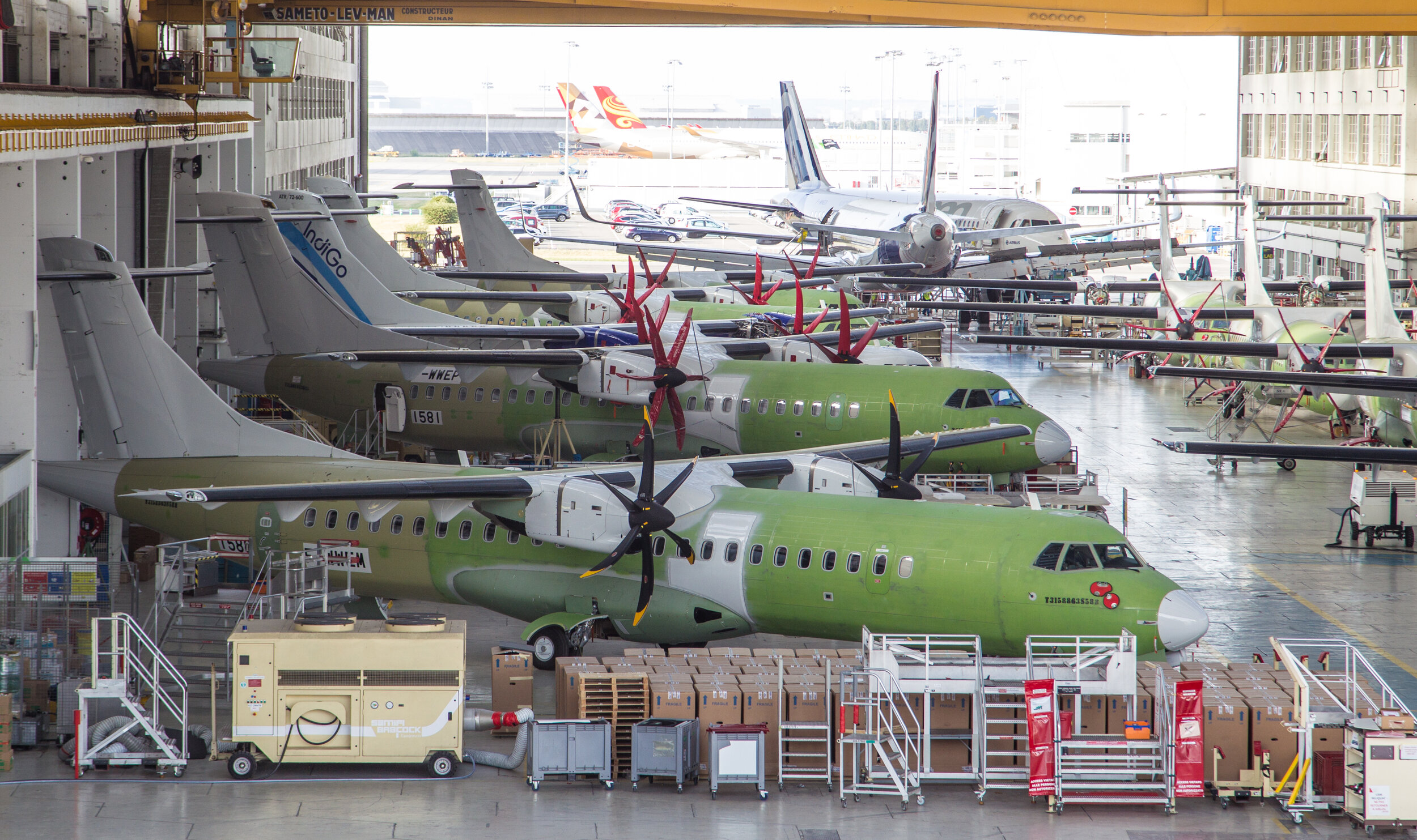 ATR Production hangar - Toulouse 18th September. Photo: Debbie Riley.