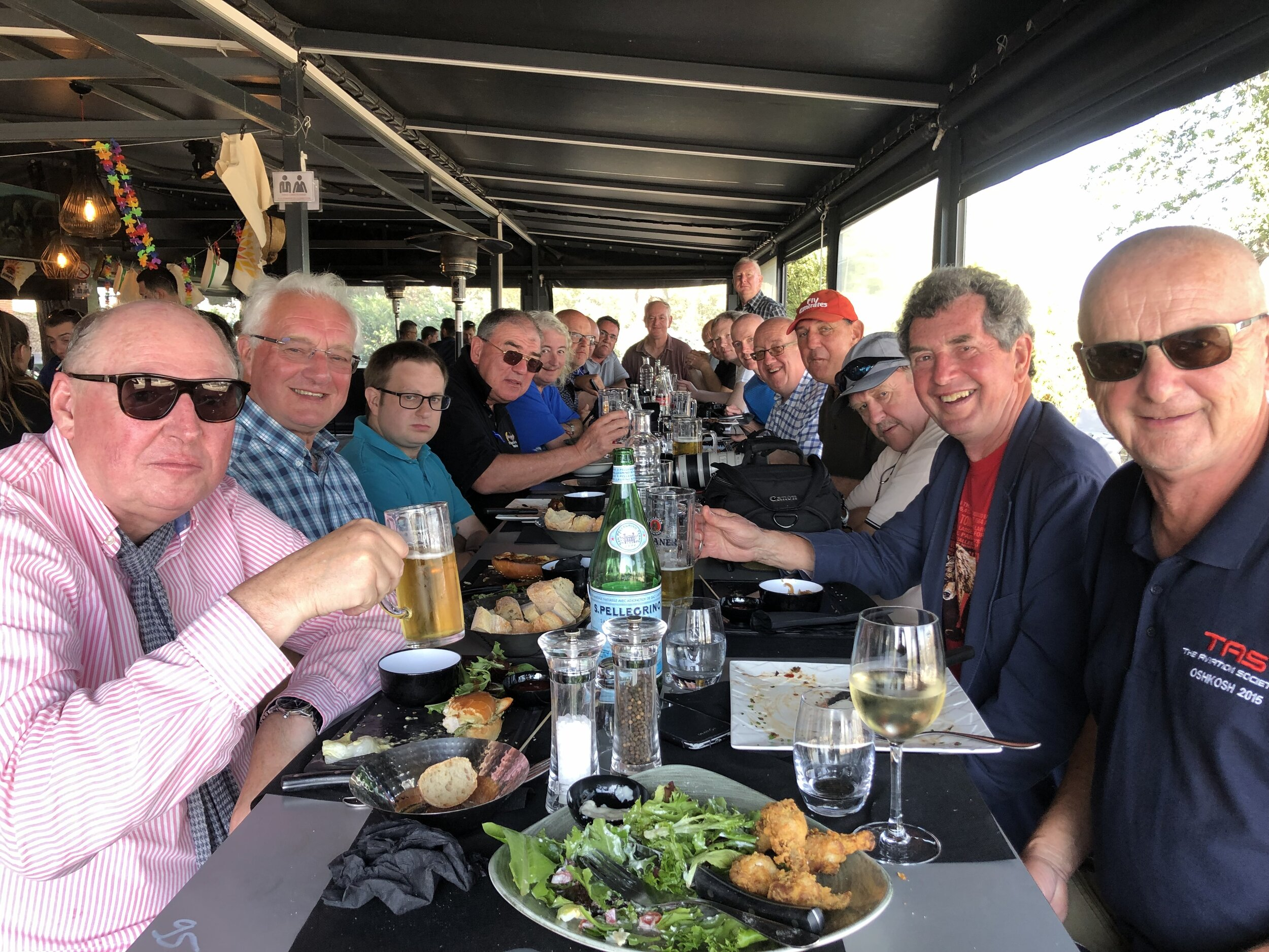 Let's do lunch - The traditional TAS group meal and a petite aperitif prior to our departure back to Manchester. 20th September 2019. Photo: Debbie Riley.