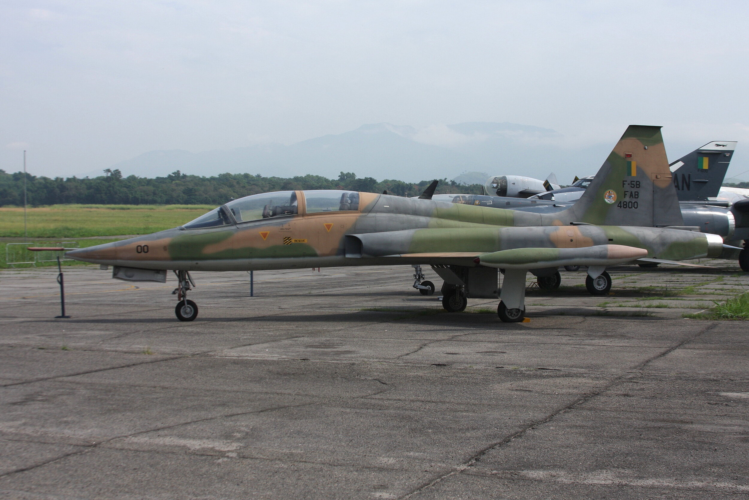 FAB4800 Brasil Air Force Northrop F5-B Freedom Fighter on display at Museu Aeroespacial Rio De Janeiro taken 2nd May 2019 by John Wood