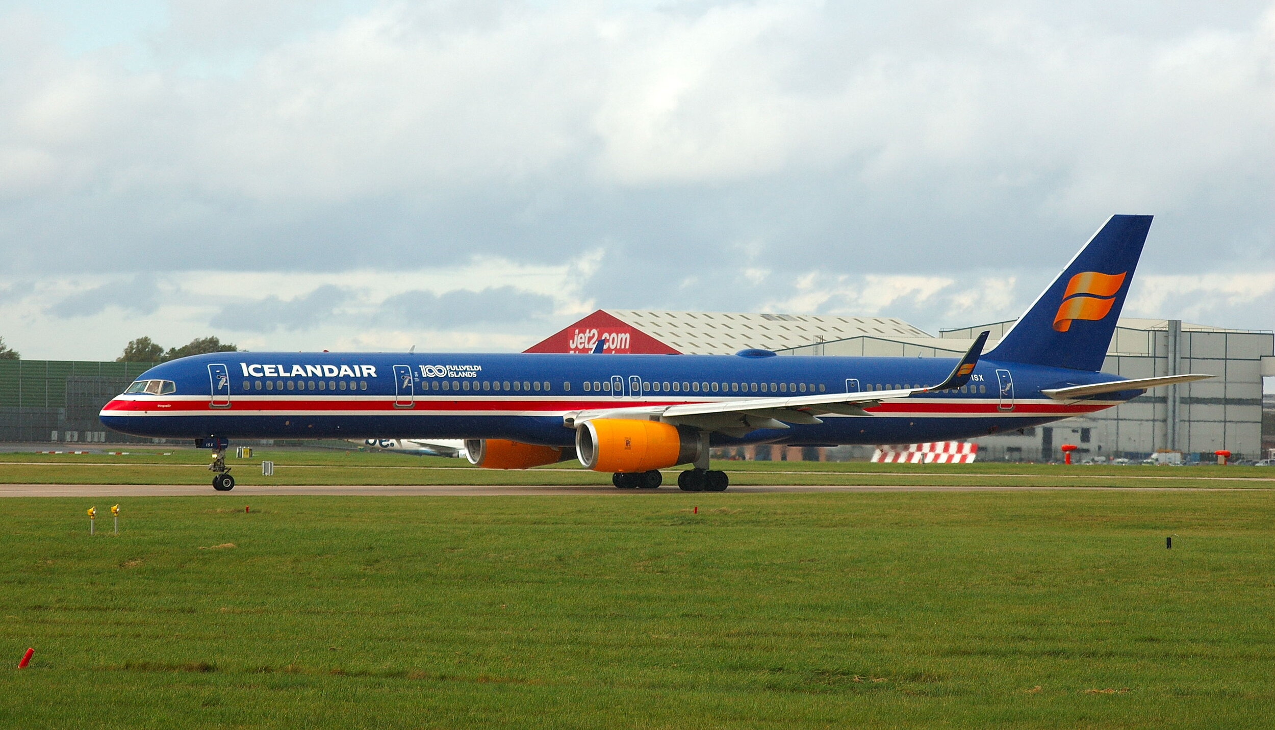 Icelandair B757-300 TF-ISX departing MAN on Runway 23 Left 18th October.Photo. Paul Rowland.