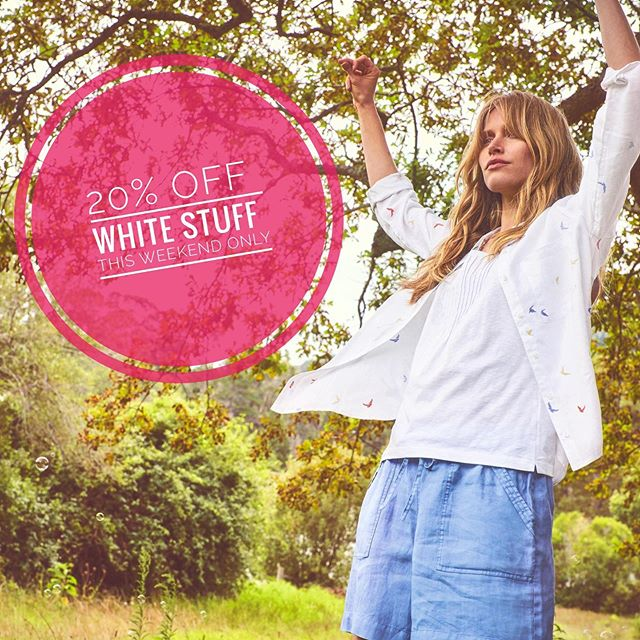 Surprise! 🙌💕✨ An exciting 20% off the White Stuff selection this weekend (starting Friday 13th, ending closing time Sunday 15th!) Selection includes SS19 and AW19 and accessories, so make sure not to miss this! ☺️👚🥿 This is also the last weekend of our end of season Summer sale, so if you've had your eye on something, make sure you get it before it's gone 😁 . . . . . . . . #sale #whitestuff #whitestuffuk #fashion #clothing #endofseason #endofseasonsale #aw19 #ss19 #whitestuffclothing #clothingsale #beaumaris #anglesey #angleseylife #boutique #findyourepic