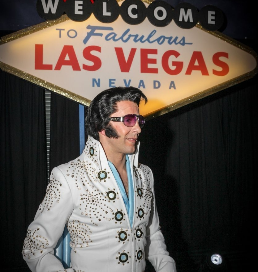 Kirk Kreole as Elvis - By far one of the best Elvis impersonators I have ever had the pleasure of working with.Kirk has amazing charisma and gets everyone involved.To find our more about Kirk please click here