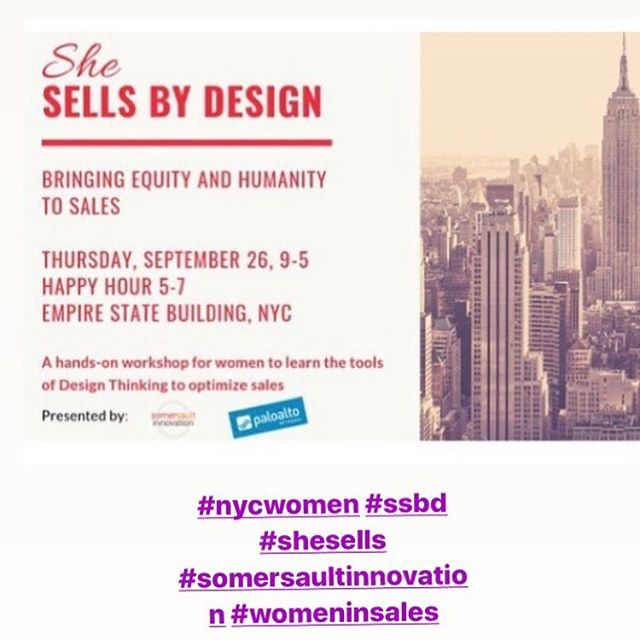 We're two weeks away and only a few spots left.  Women in NYC sales, join us for an amazing workshop and networking event.