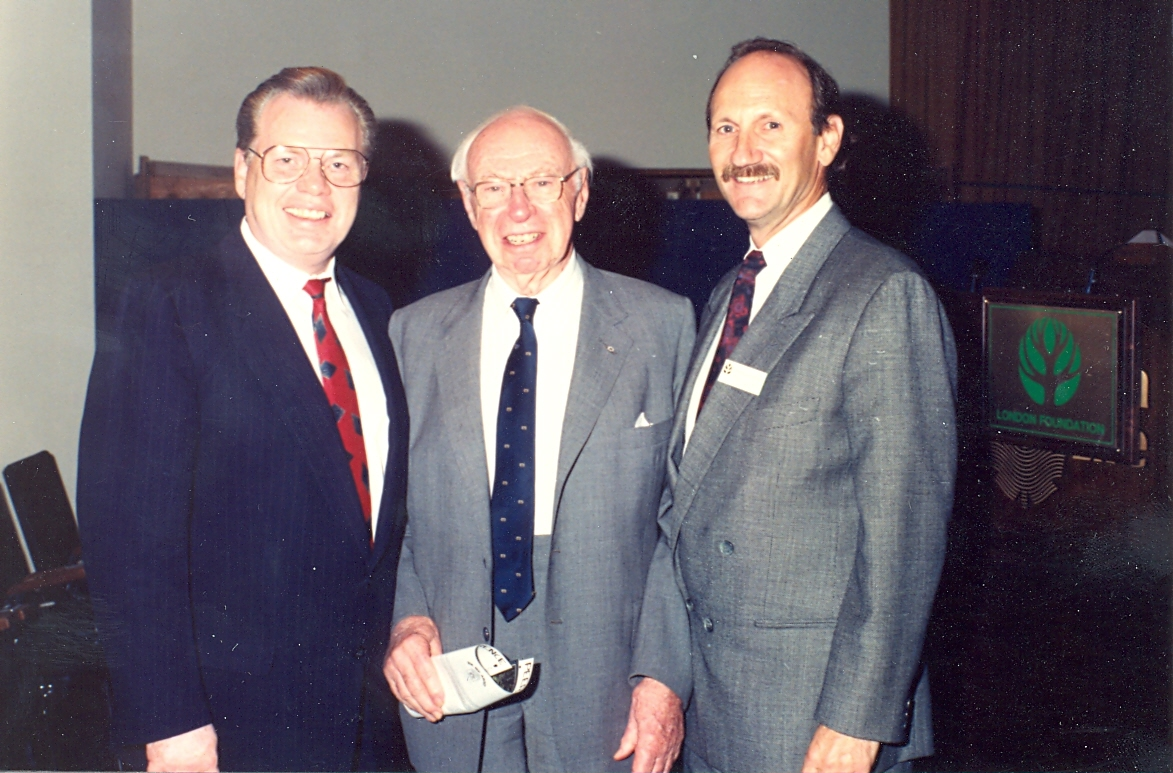 (From left) members Dr. Cal Stiller, the late J. Allyn Taylor, and Bob Siskind.