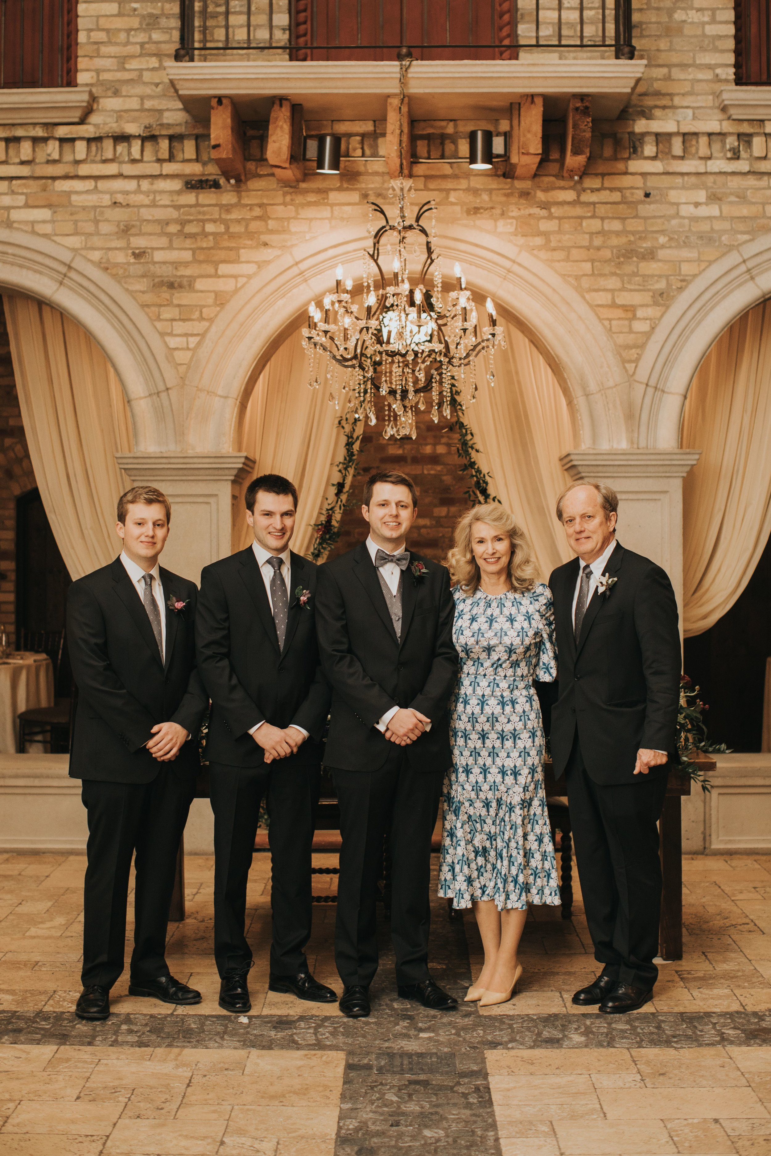 Paul and Mary Ann Adams and their sons