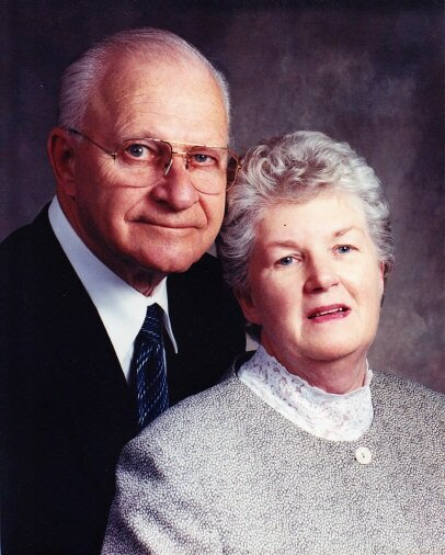 Ron Dawson and his late wife, June