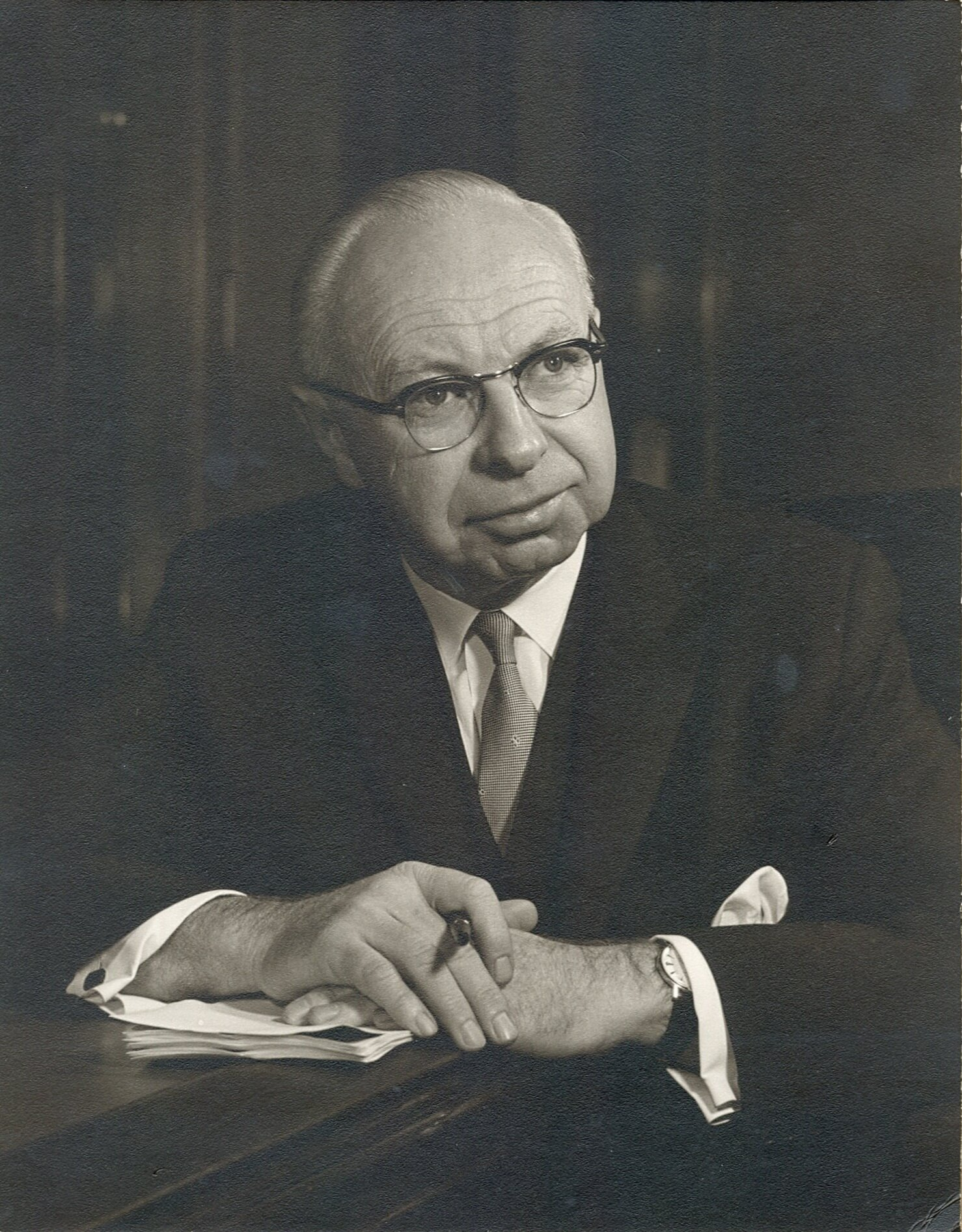 """J. Allyn Taylor was a former President of Canada Trust and an extraordinary community leader.  Affectionately dubbed """"Mr. London,"""" he was instrumental in revitalizing London Community Foundation in 1979 and continued to serve the community as Honorary Chair of the Foundation's Board until his death in 2006."""